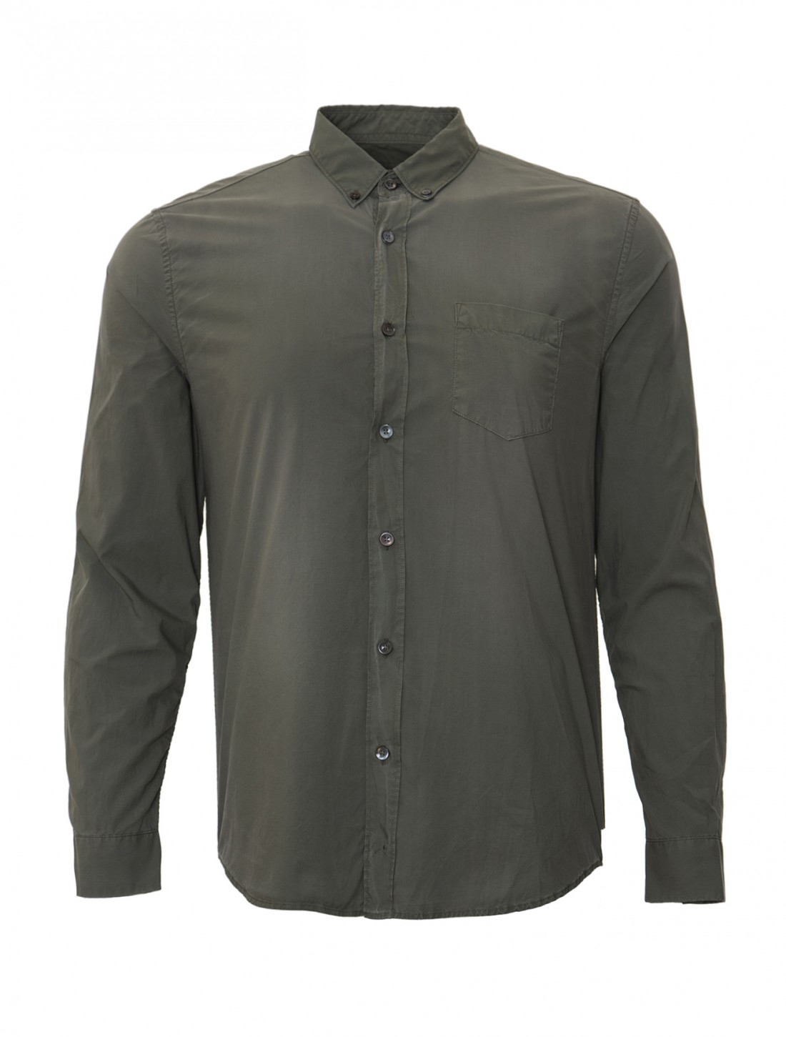 closed classic button down shirt with pocket in gray for