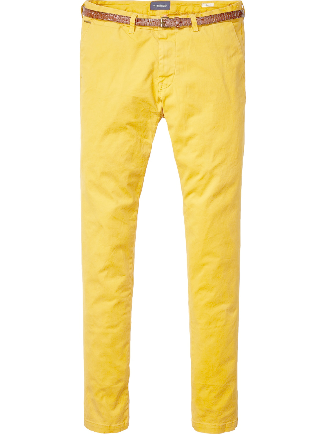 scotch soda stuart classic chinos in yellow for men lyst. Black Bedroom Furniture Sets. Home Design Ideas