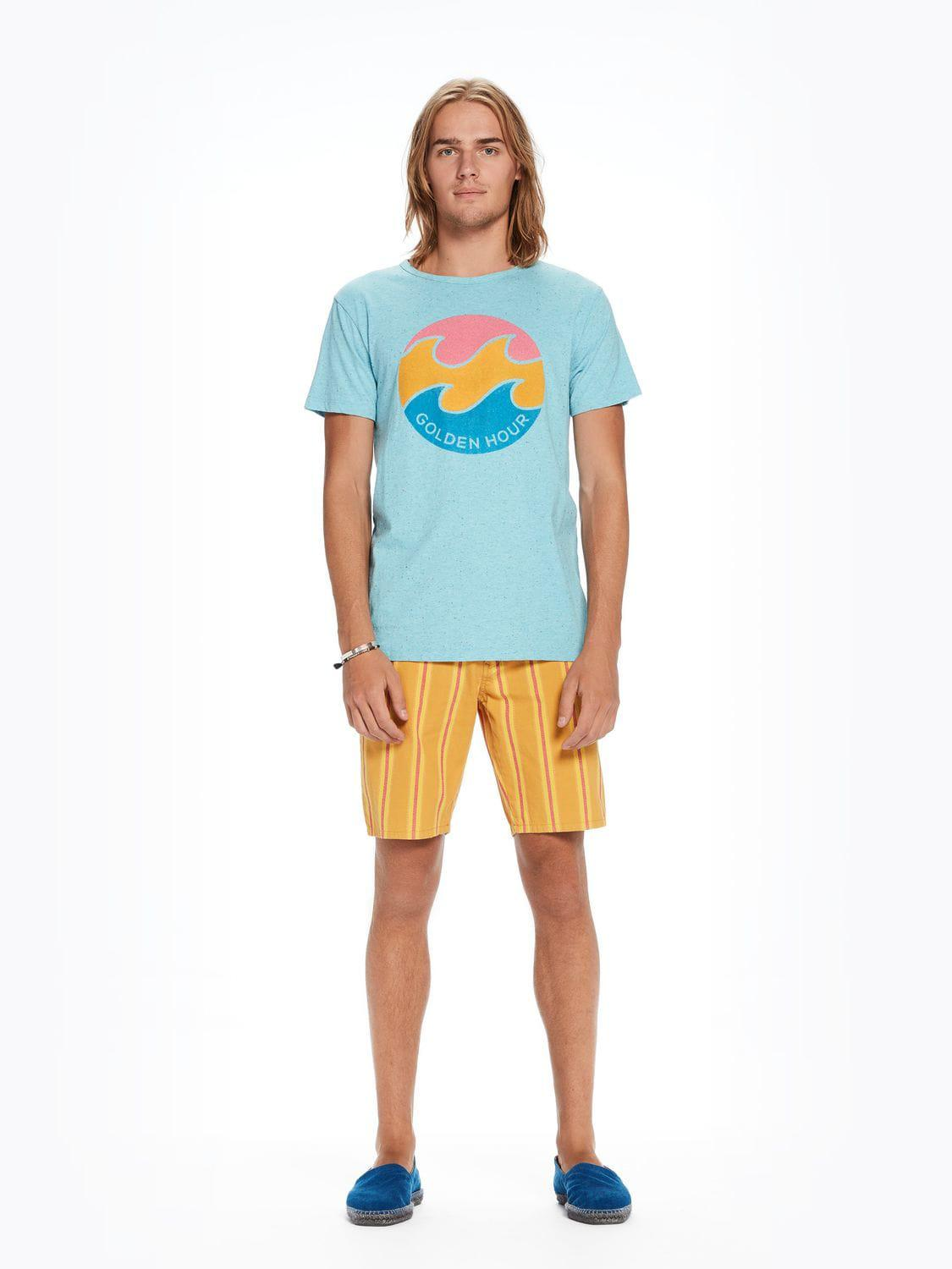 Lyst - Scotch   Soda Flock Printed T-shirt in Blue for Men 752a4387aad