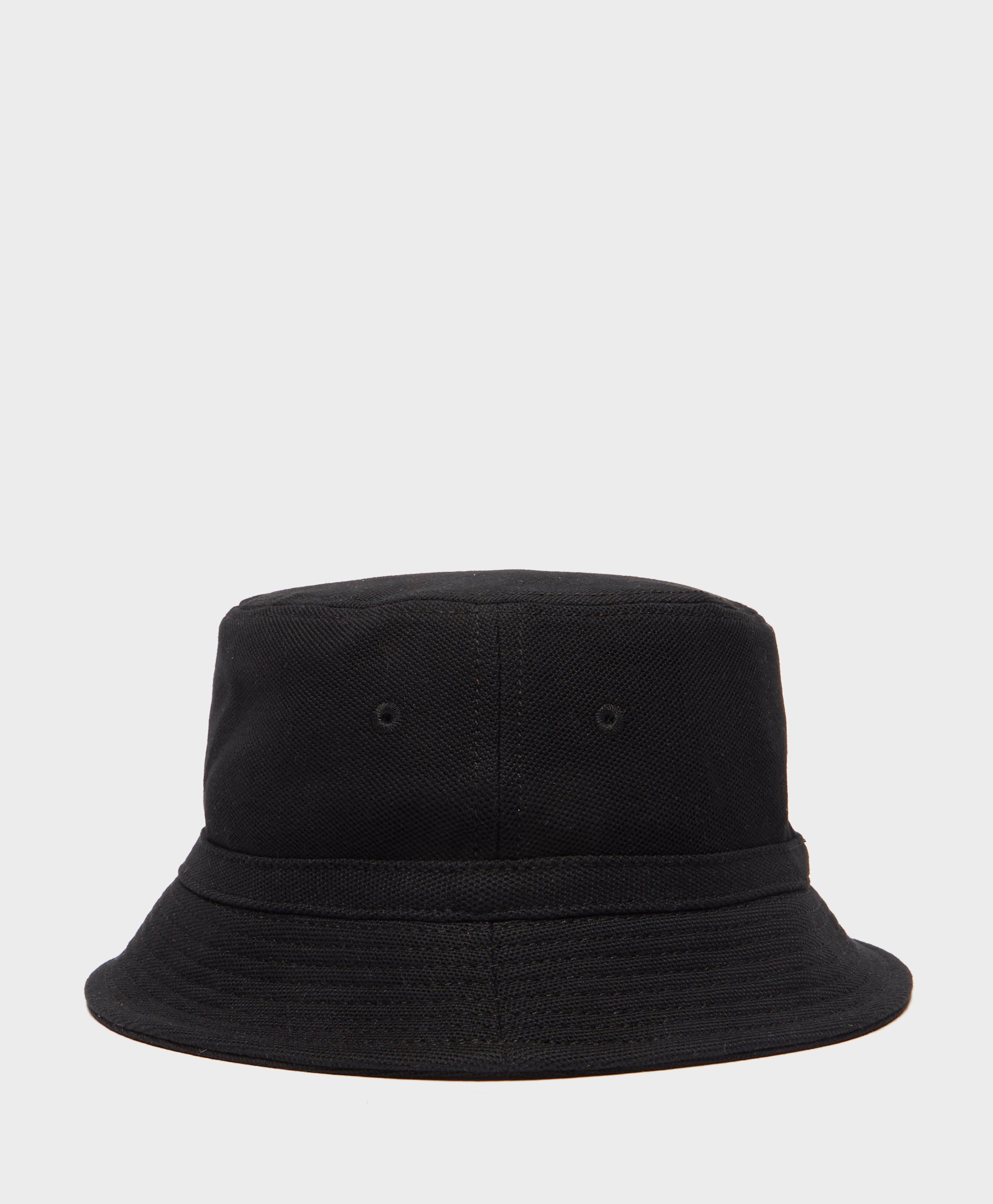 Lyst - Lacoste Pique Bucket Hat in Black for Men a73fec5f91e