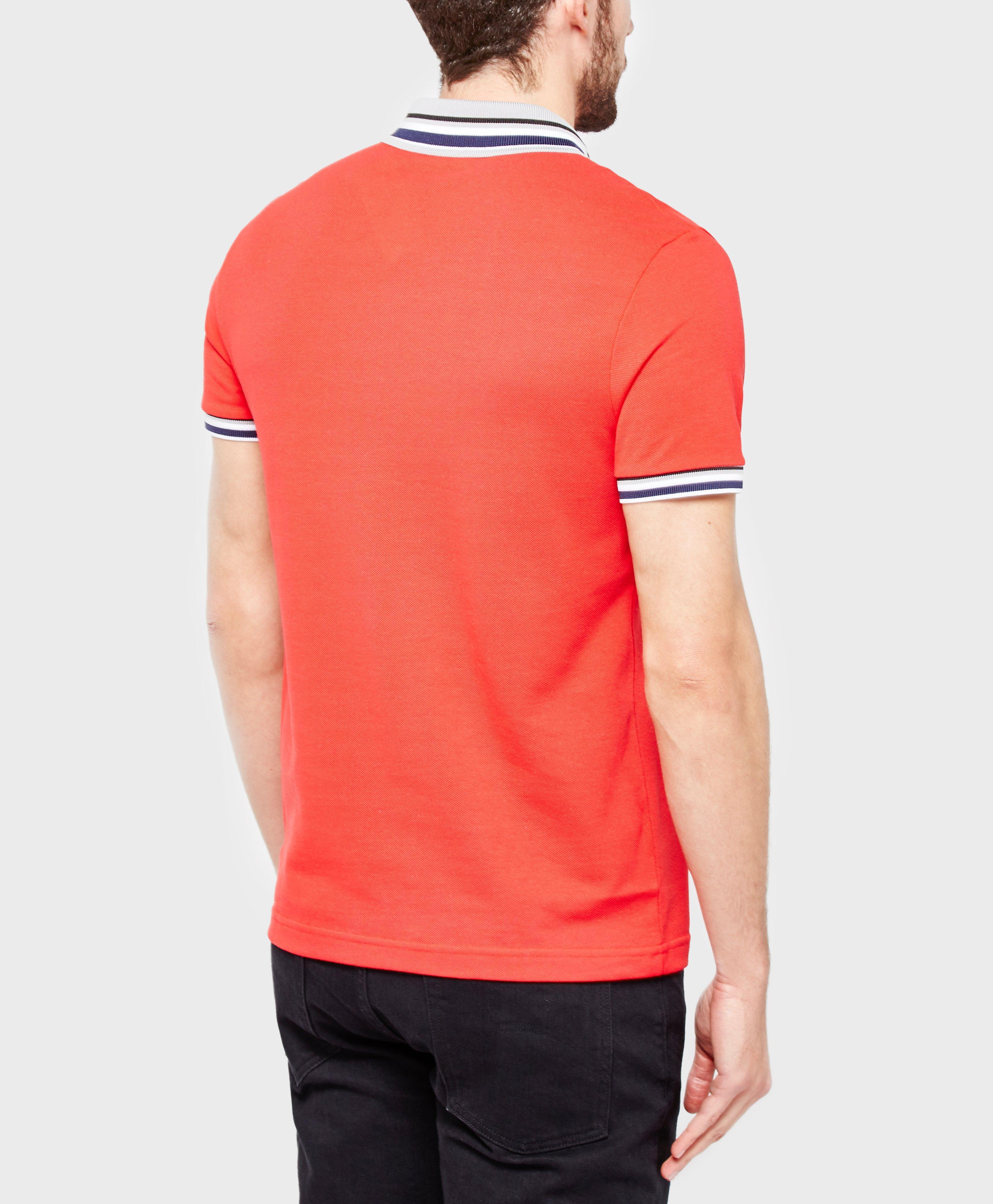 Lyst lacoste pique polo shirt in red for men for Lacoste poloshirt weiay