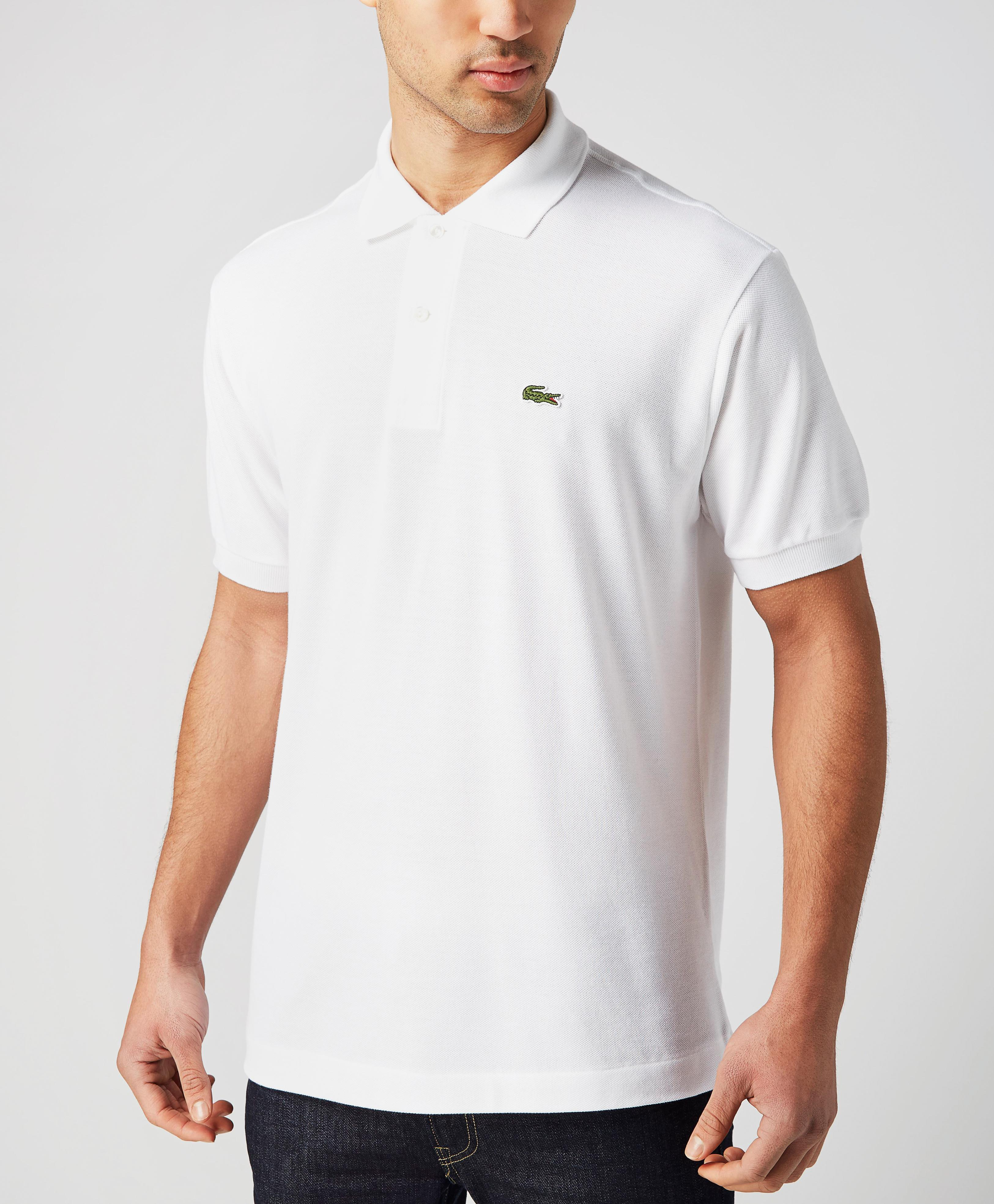 lacoste l1212 polo shirt in white for men lyst. Black Bedroom Furniture Sets. Home Design Ideas