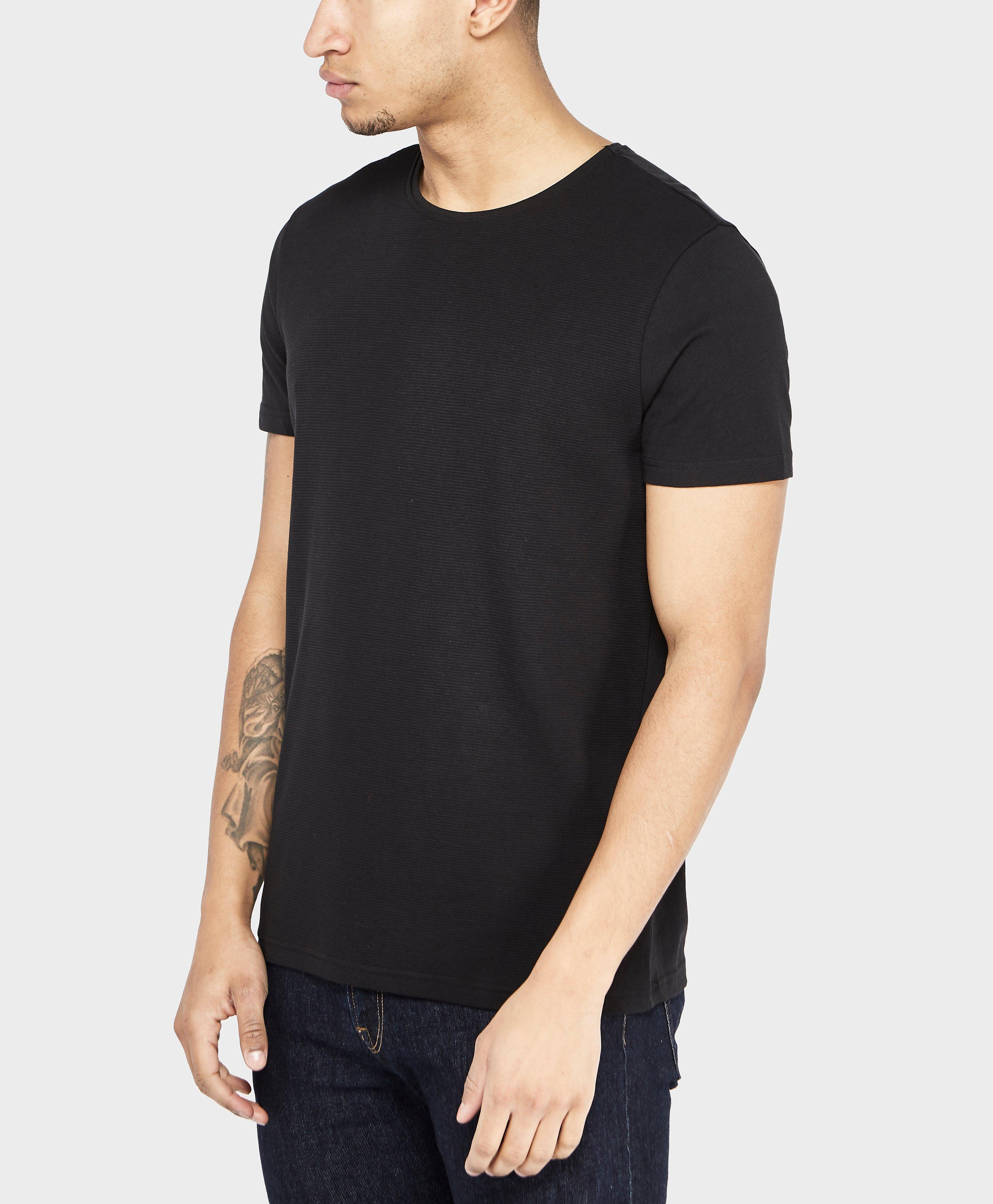 boss orange thilo short sleeve t shirt in black for men lyst. Black Bedroom Furniture Sets. Home Design Ideas