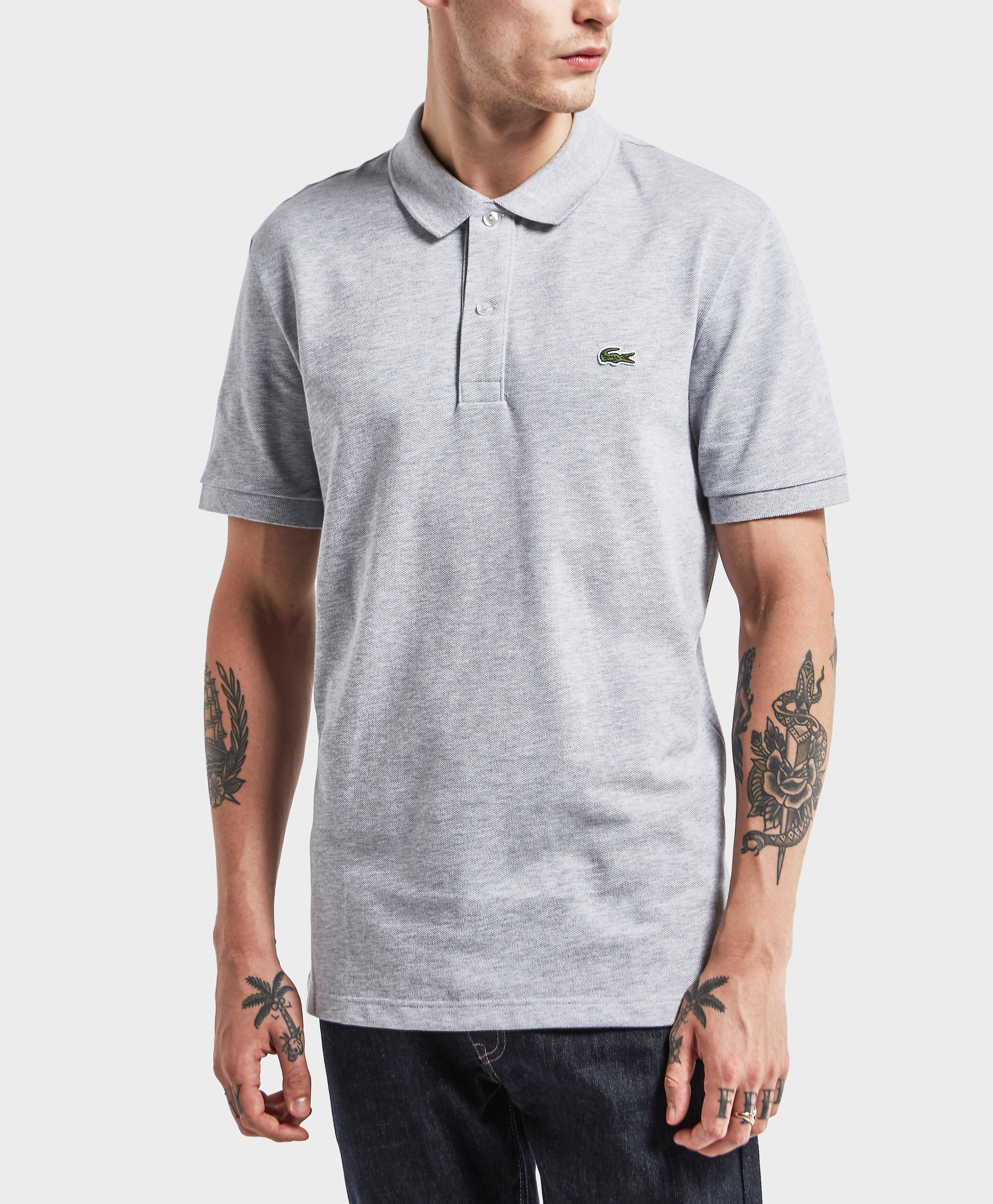 590d63ab0edff8 Lyst - Lacoste 1212 Slim Short Sleeve Polo Shirt in Gray for Men