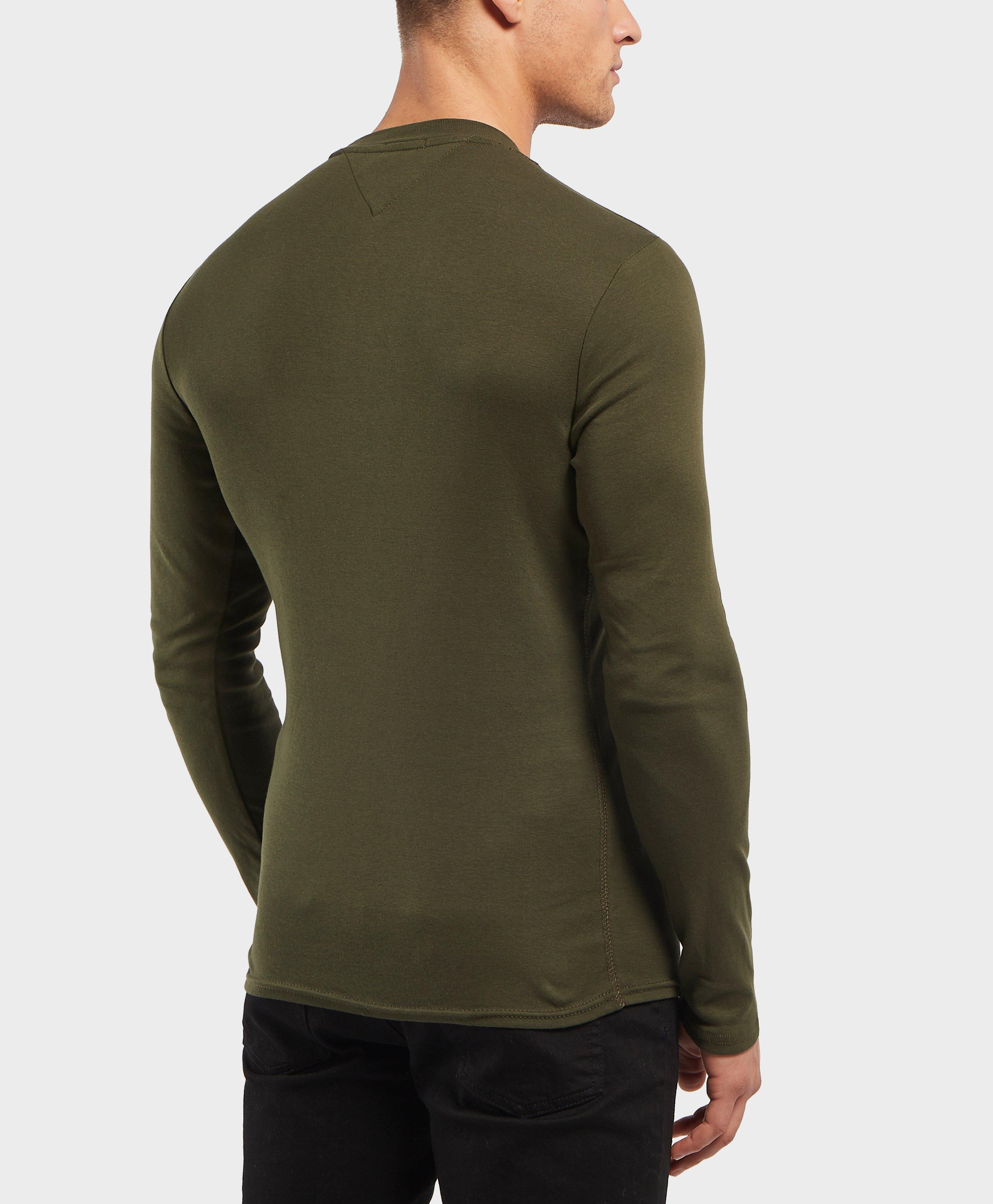 Lyst - Tommy Hilfiger Long Sleeve Crew T-shirt in Green for Men 81506e182f
