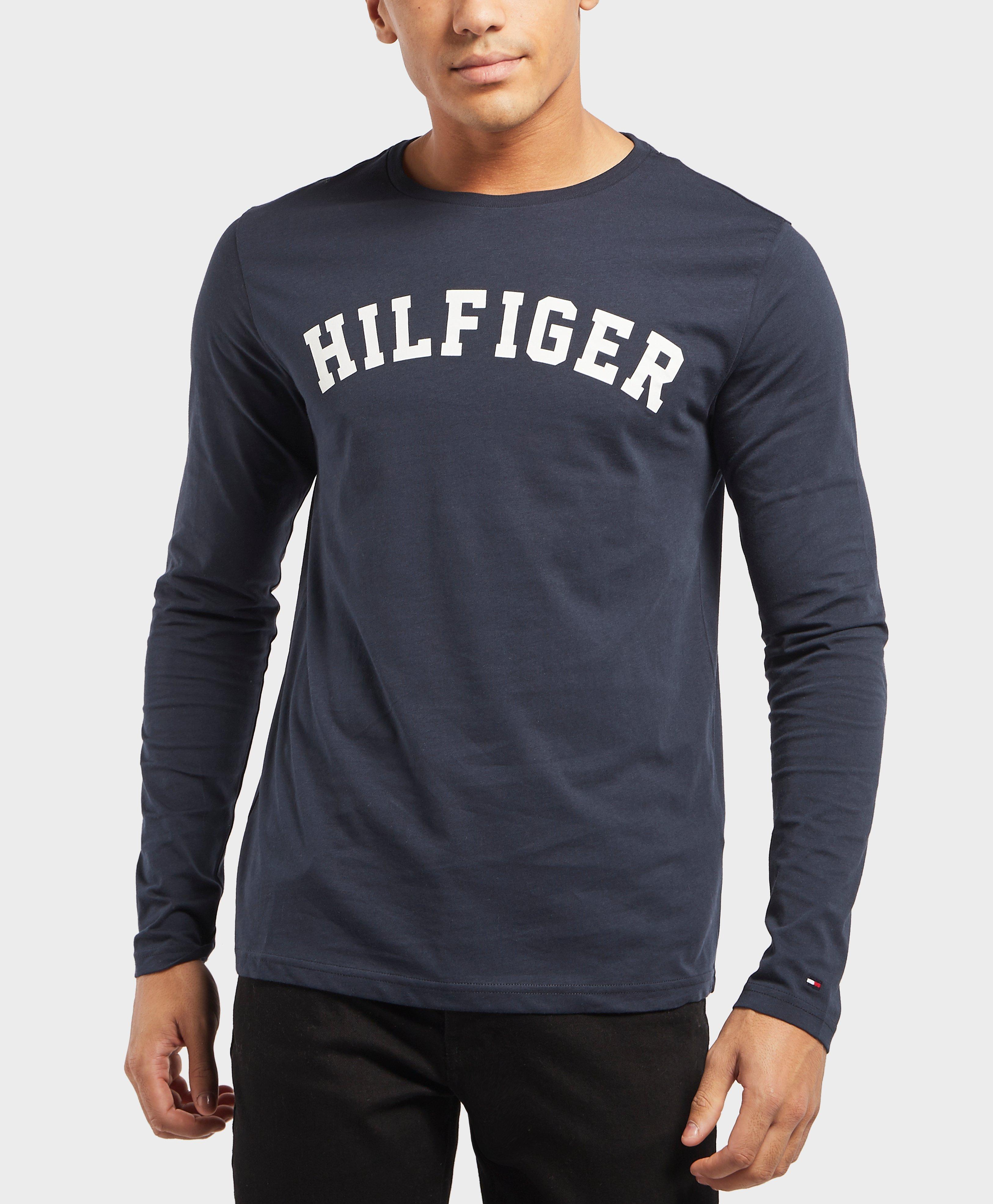 3d0b6a9e Tommy Hilfiger Long Sleeve Logo T-shirt in Blue for Men - Lyst