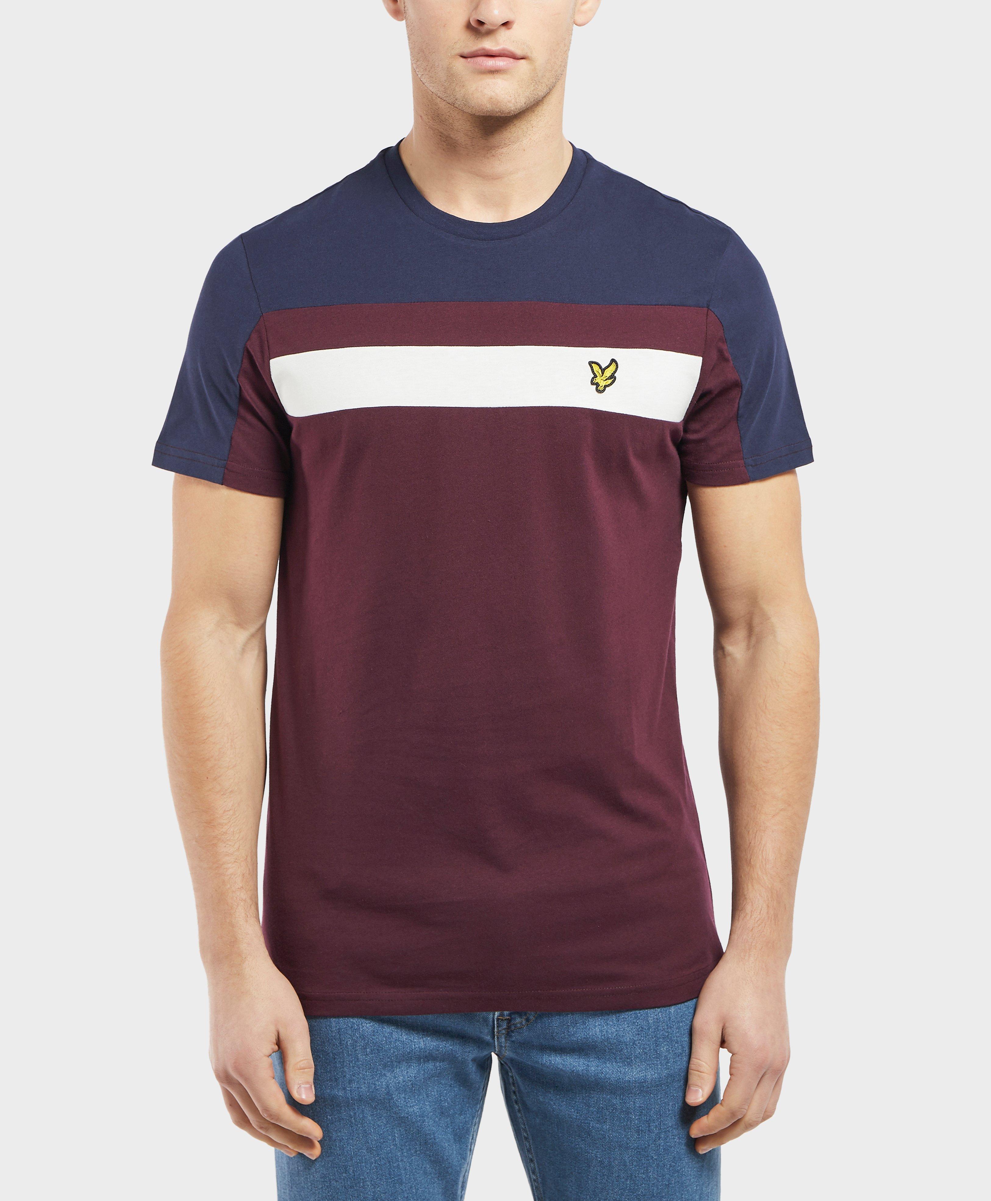 0f1816396 Lyst - Lyle & Scott Short Sleeve Colour Block T-shirt in Blue for Men