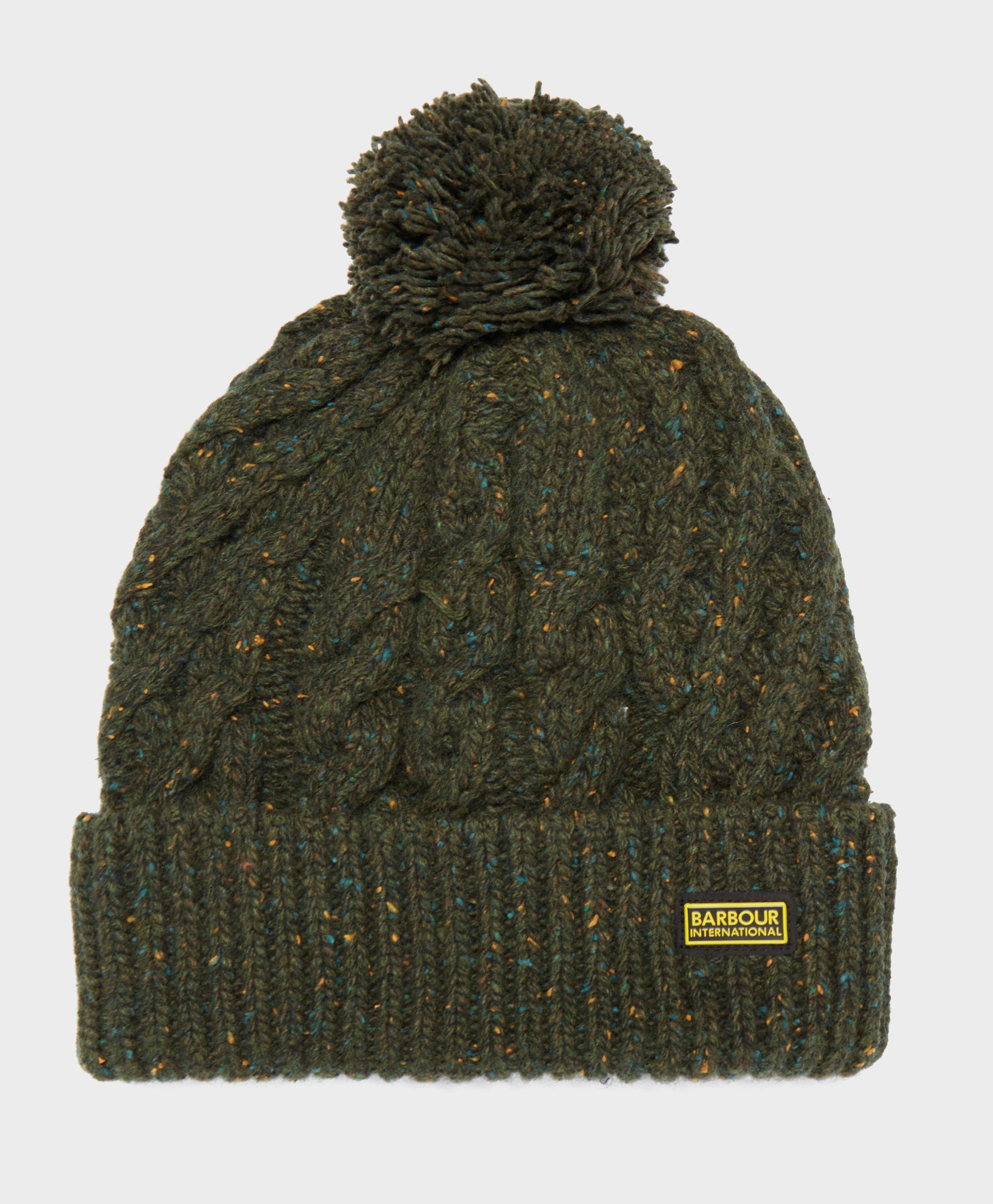 5cb0f6b42 Lyst - Barbour International Bobble Hat in Green for Men