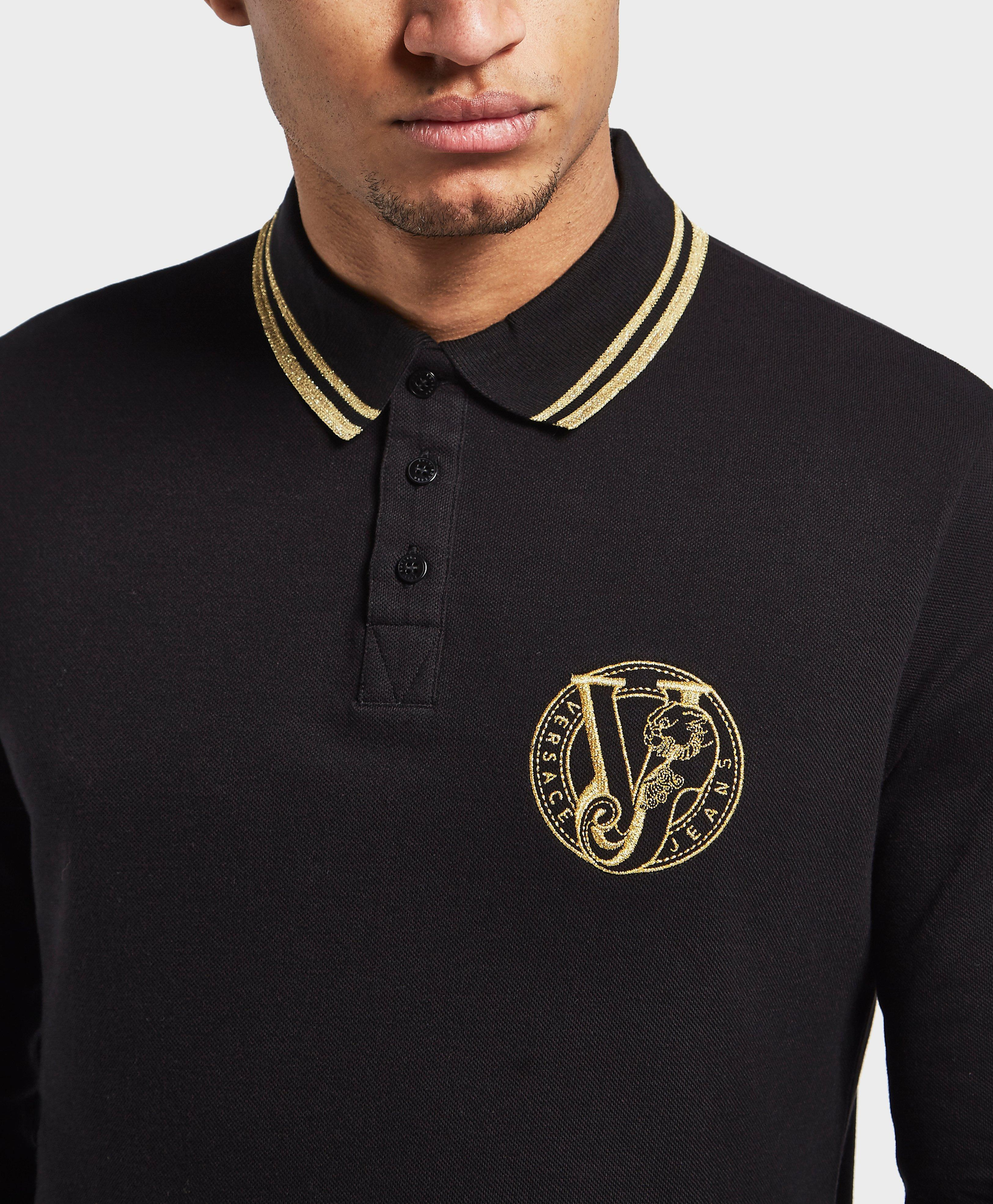 bf77bc821 Versace Jeans Tipped Polo T Shirt Black - raveitsafe
