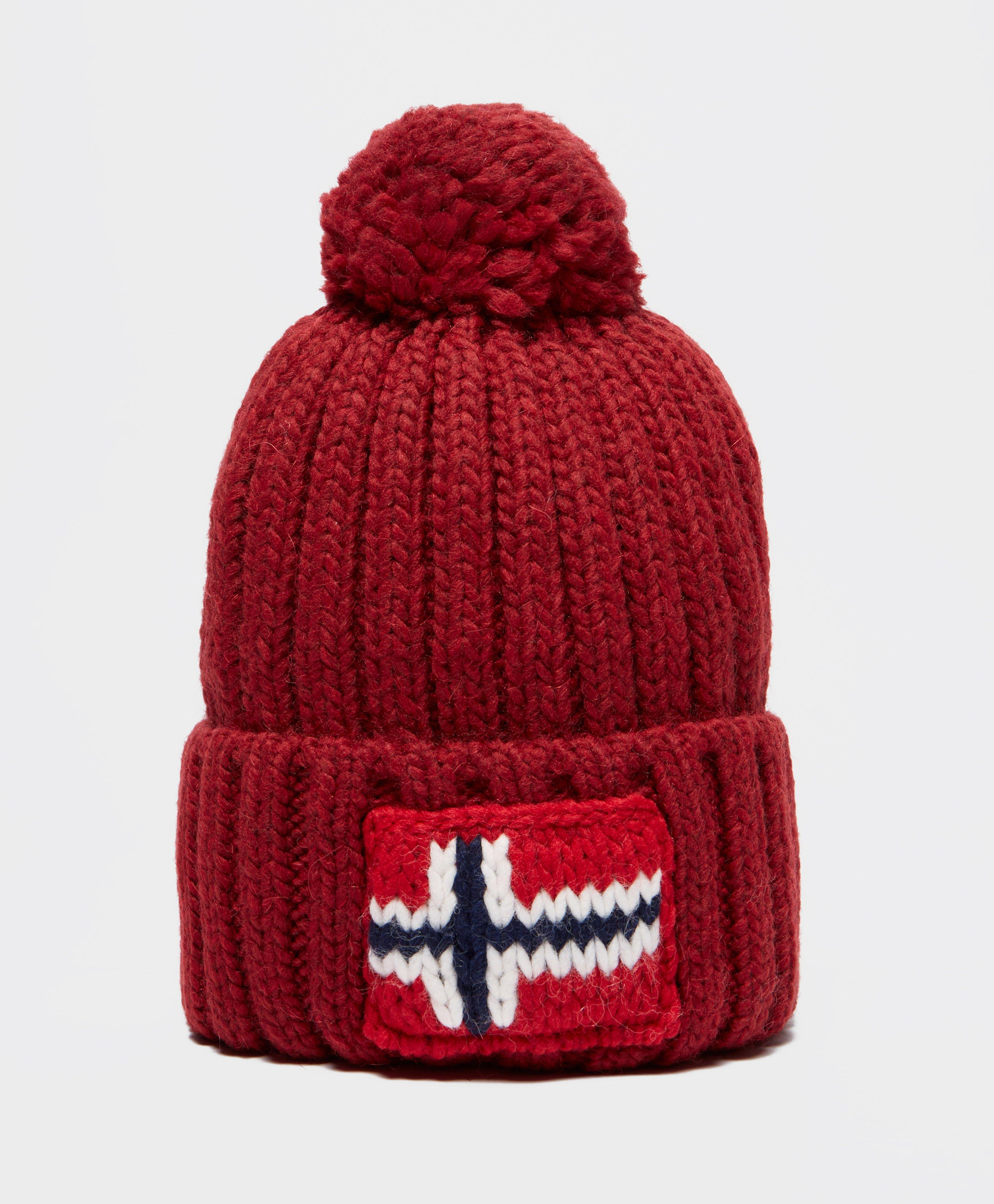 3d77fd4ac5f Napapijri Semiury Bobble Hat in Red for Men - Lyst