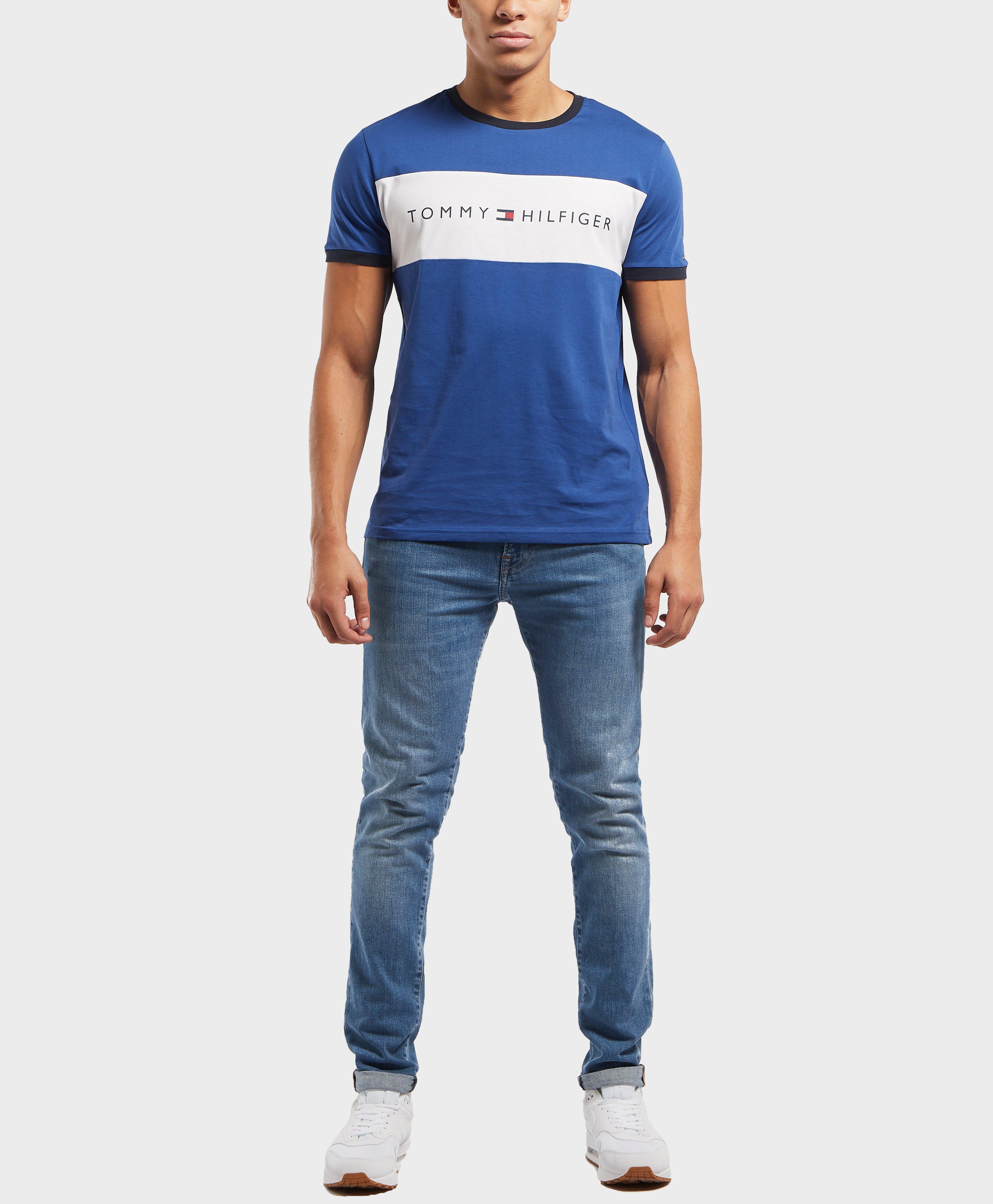 870339644 Tommy Hilfiger Cut And Sew Logo Short Sleeve T-shirt in Blue for Men ...