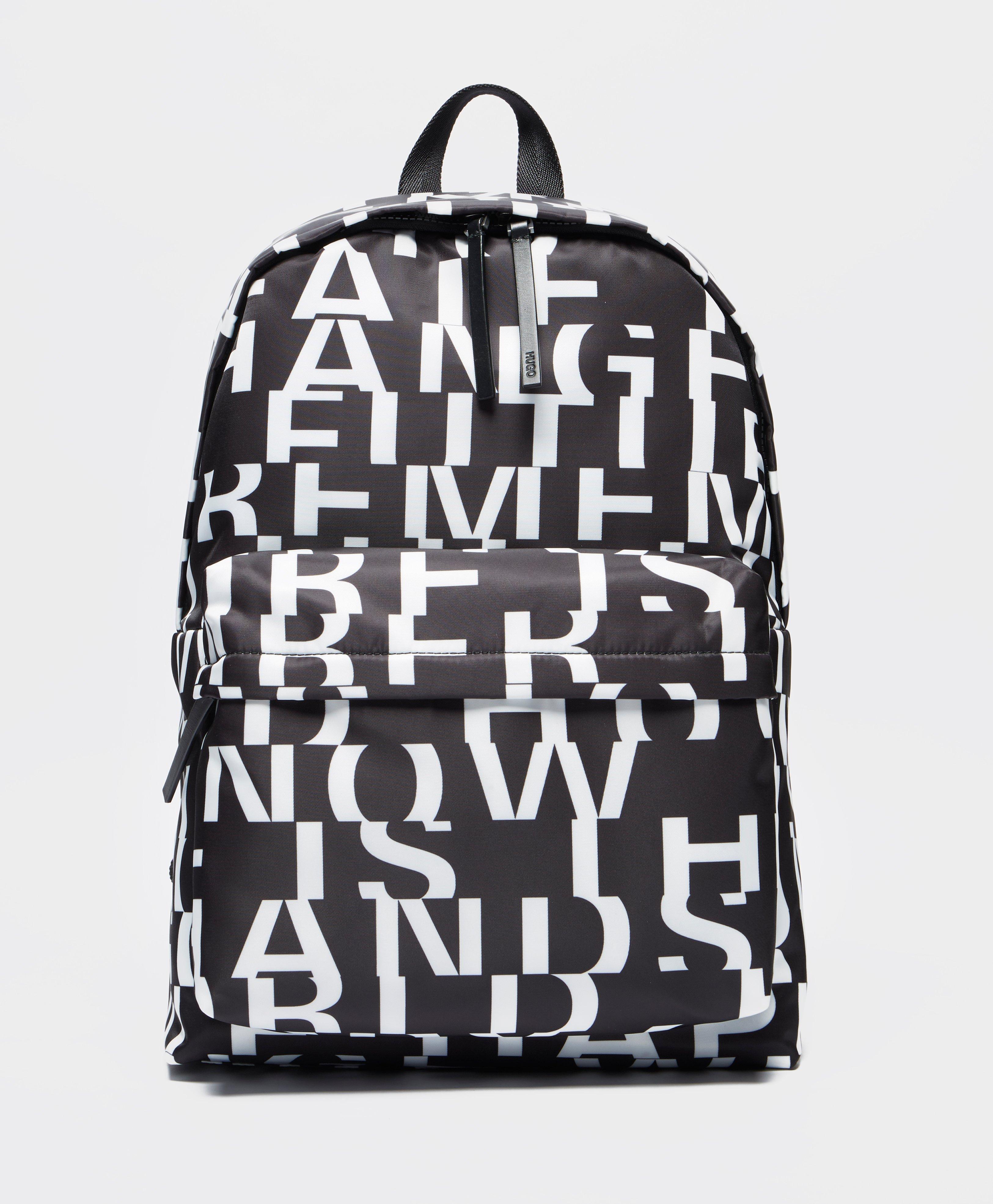 HUGO - Black Record Backpack - Online Exclusive for Men - Lyst. View  fullscreen cb76d05c6c