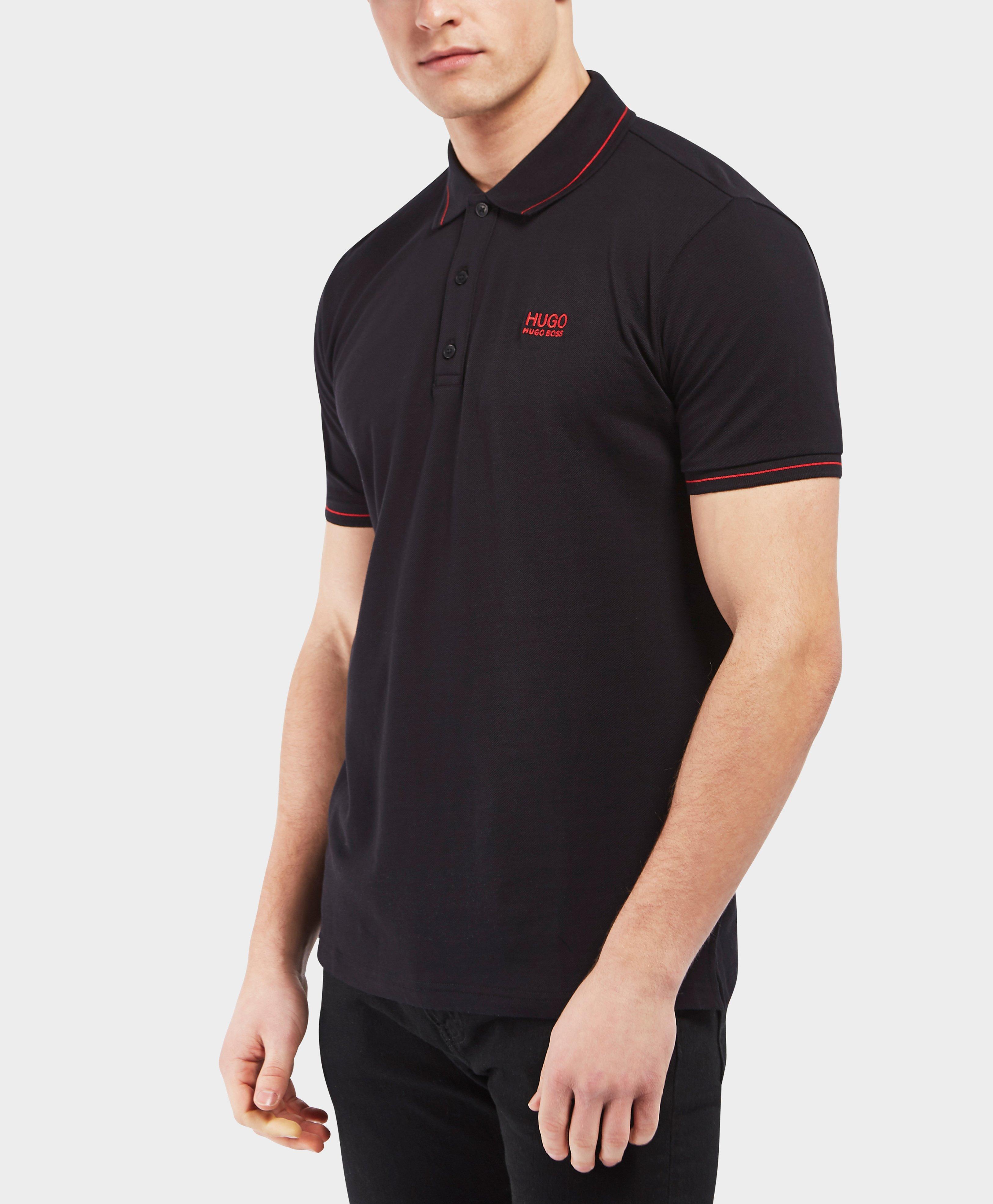 e13a5974 HUGO Daruso Short Sleeve Polo Shirt in Black for Men - Lyst