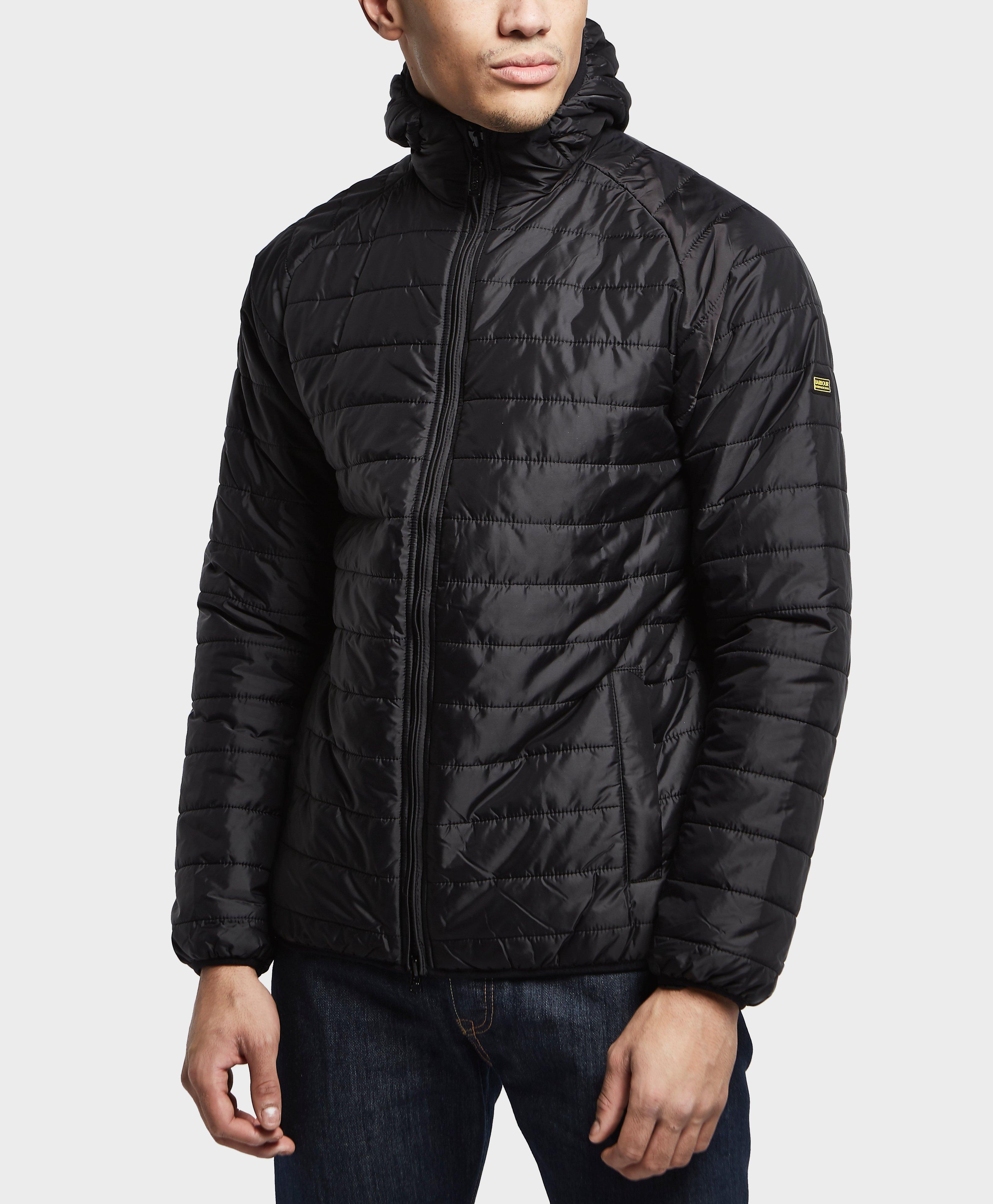 Lyst - Barbour International Level Quilted Padded Jacket in Black ... : mens black barbour quilted jacket - Adamdwight.com