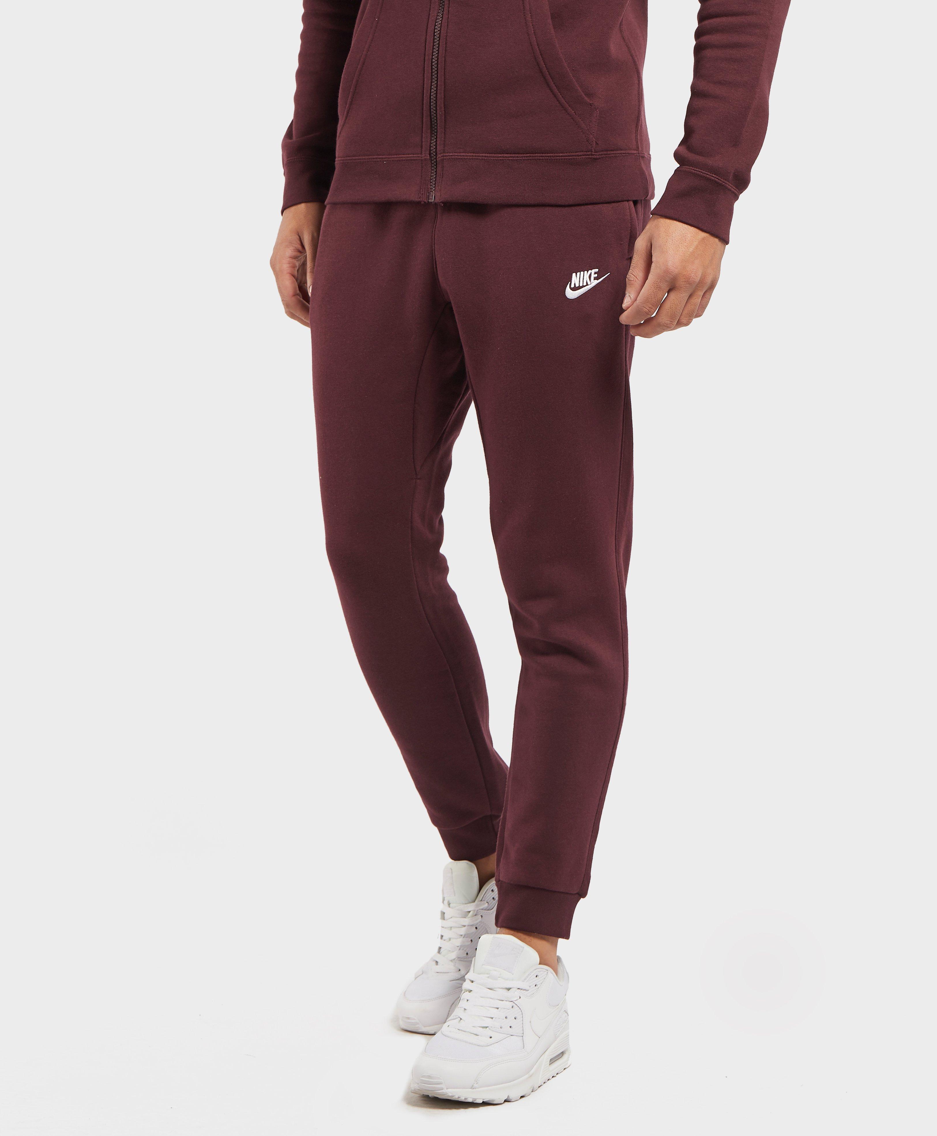 Nike Club Cuffed Fleece Pants in Red for Men - Lyst 4b30e5b541cf