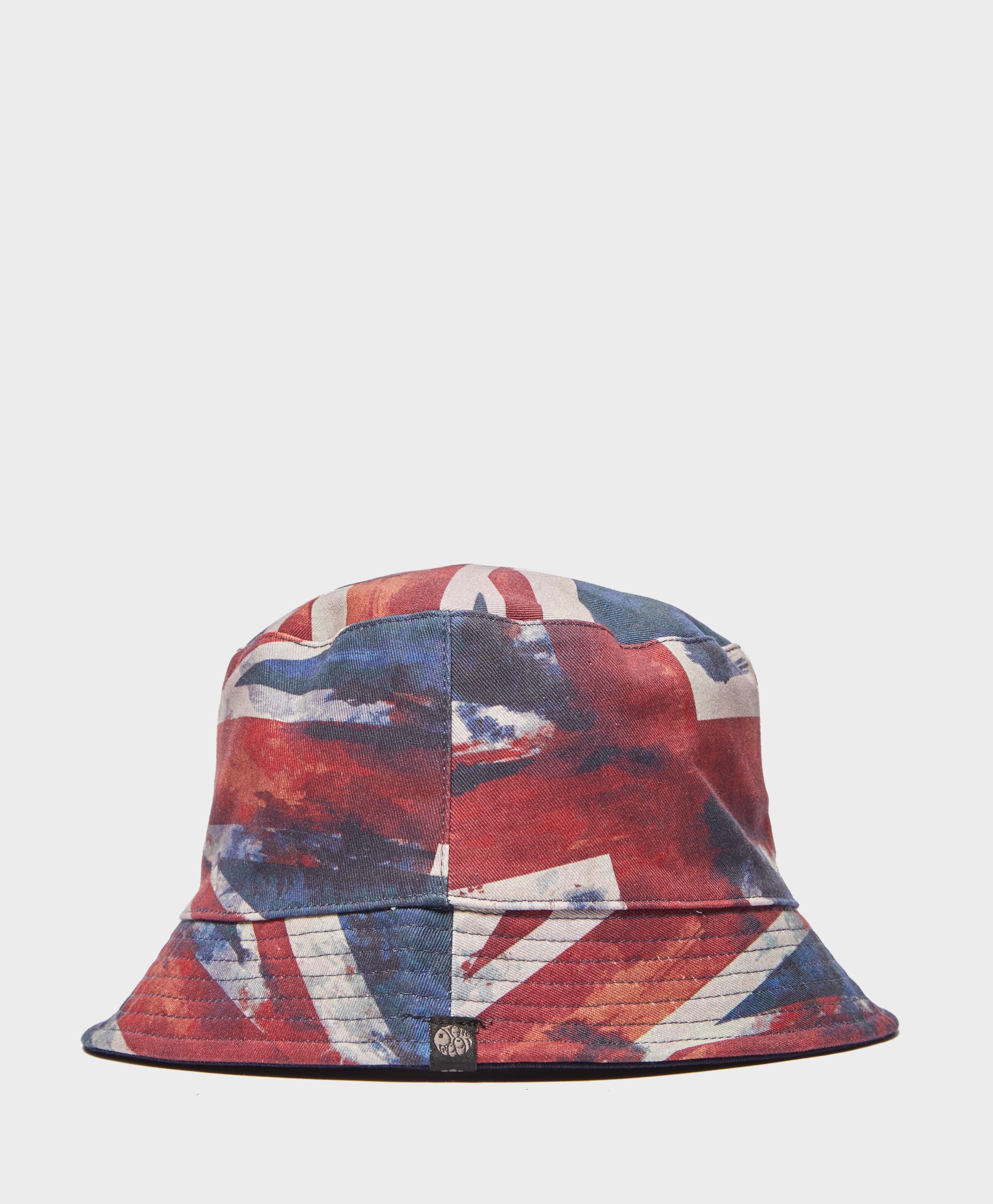 d656f4472f3 Lyst - Pretty Green Union Jack Reversible Bucket Hat in Blue for Men