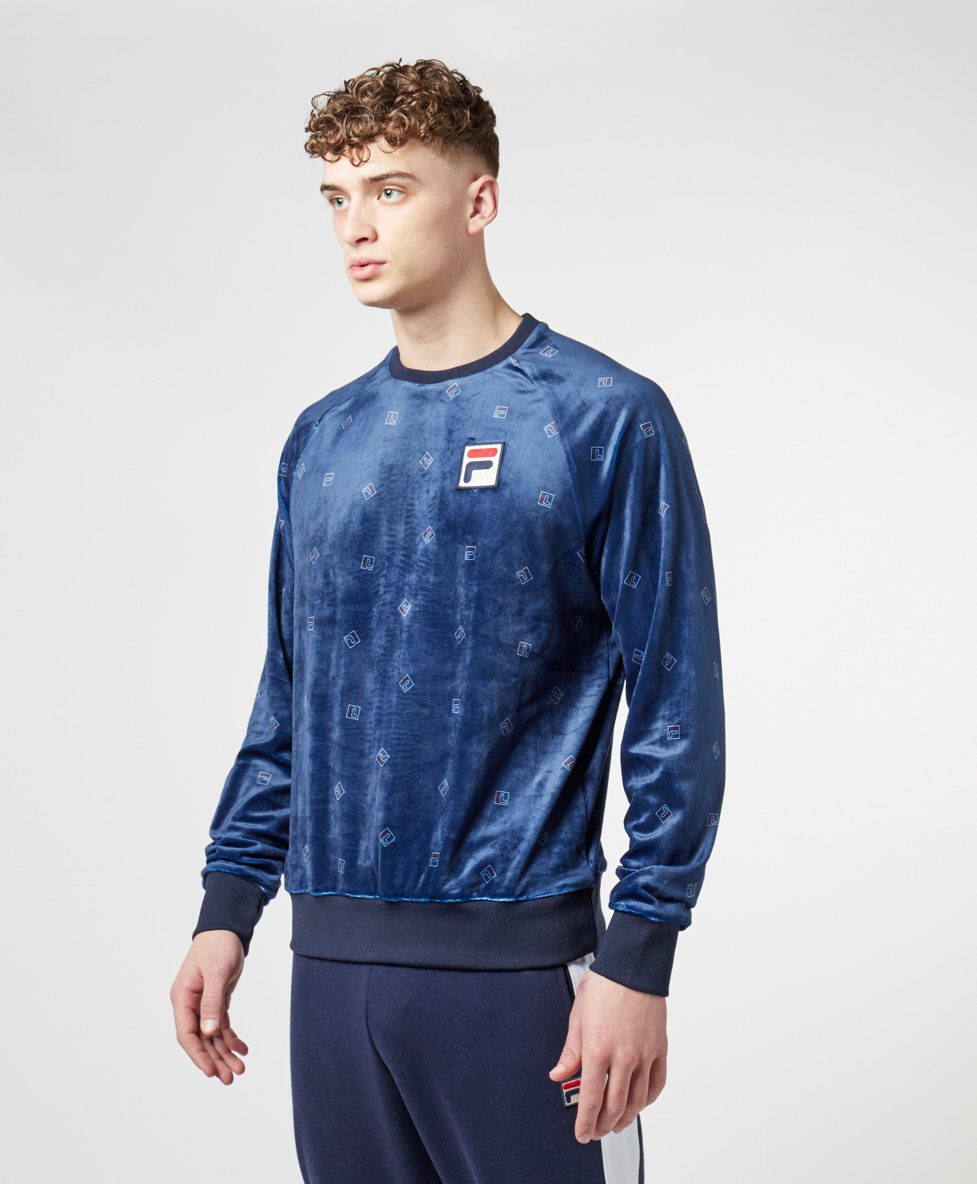 1f3a6bc64e60 Lyst - Fila All Over Print Sweatshirt in Blue for Men