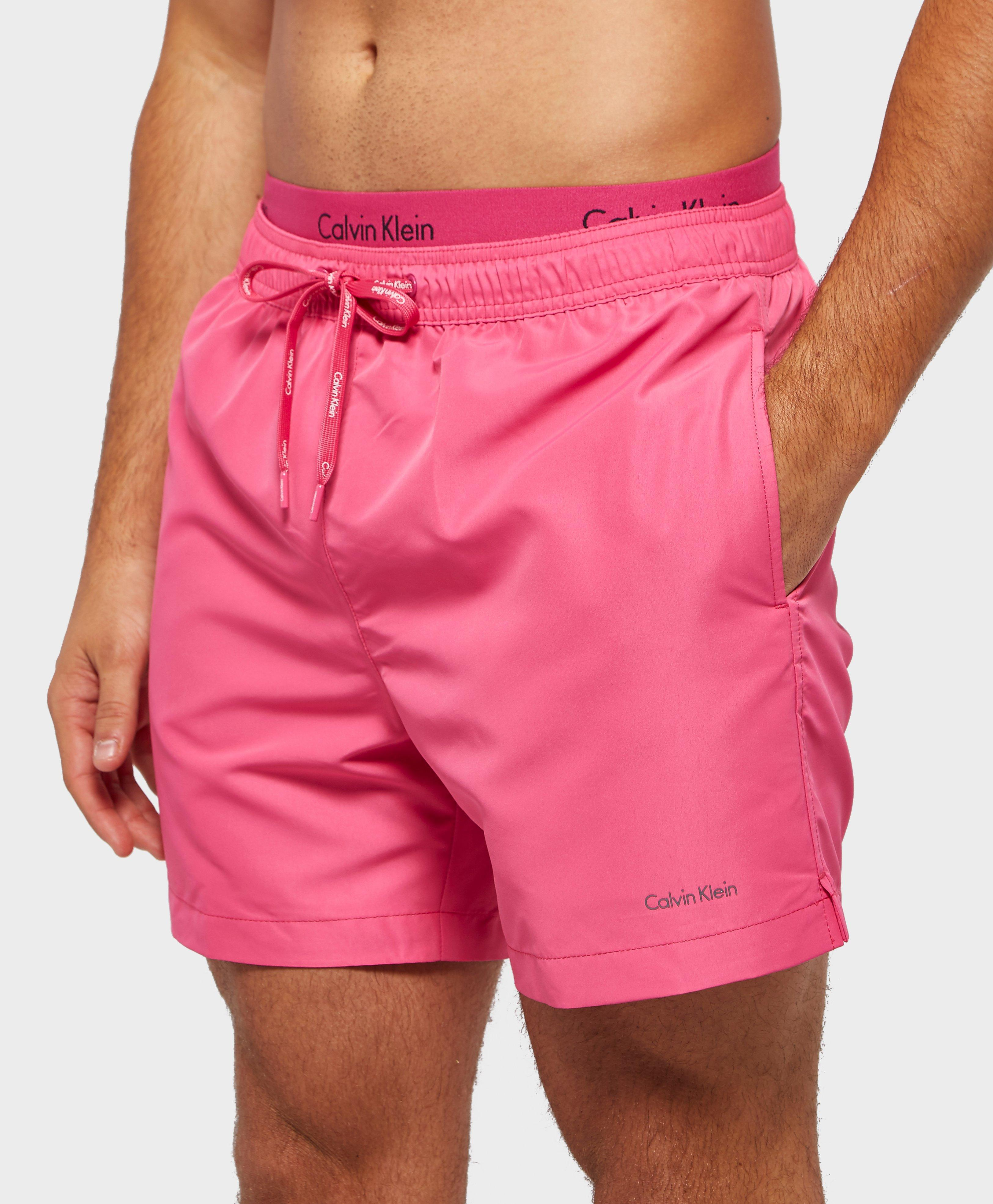 c0a8c5d68c CALVIN KLEIN 205W39NYC Double Waistband Swim Shorts in Pink for Men ...