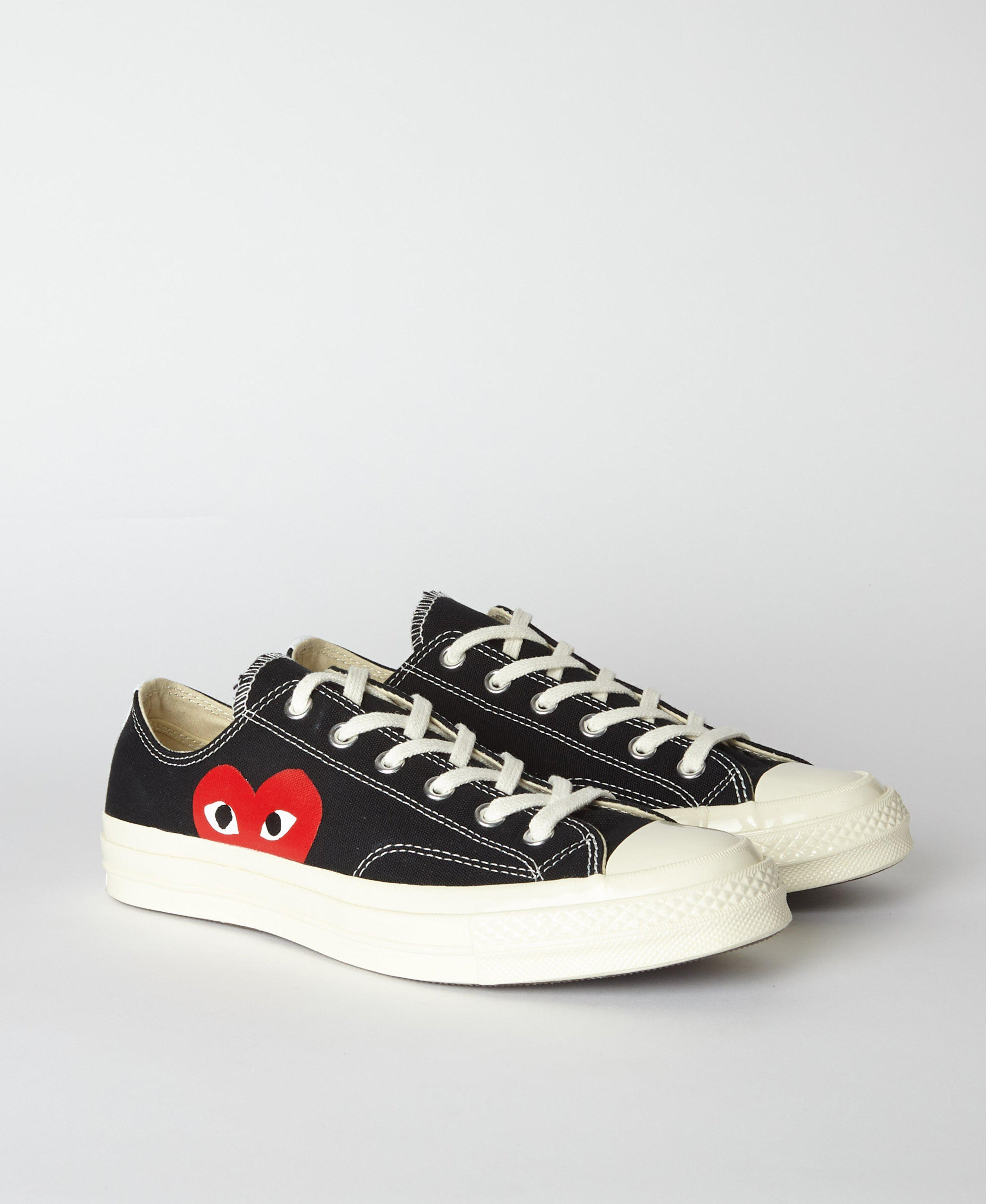 f901c97cd69ba COMME DES GARÇONS PLAY Black Play X Converse 70s Chuck Taylor All Star Low  in Black for Men - Save 24% - Lyst