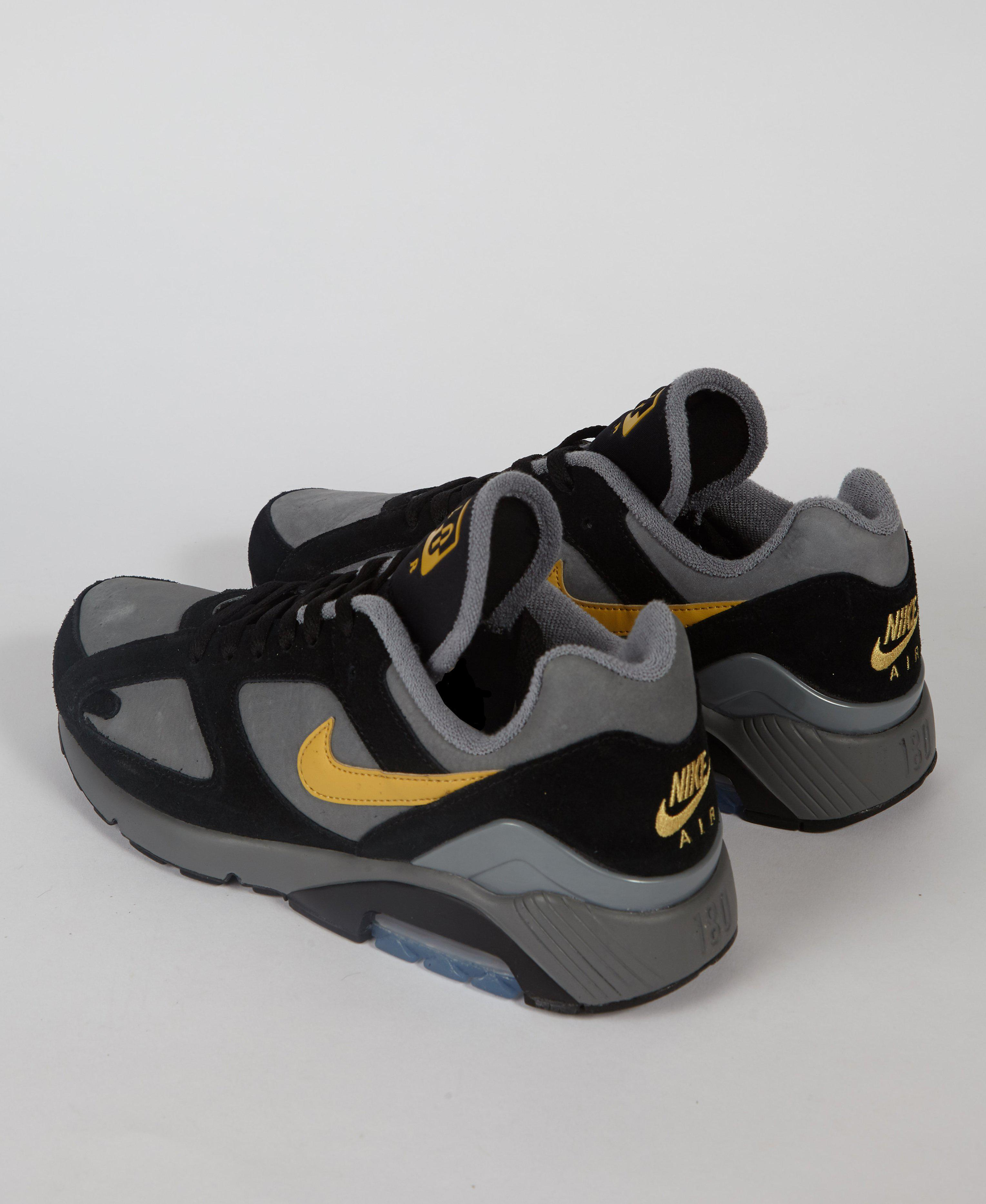 58af8a5b61c Lyst - Nike Air Max 180 Cool Grey   Black   Gold in Black for Men