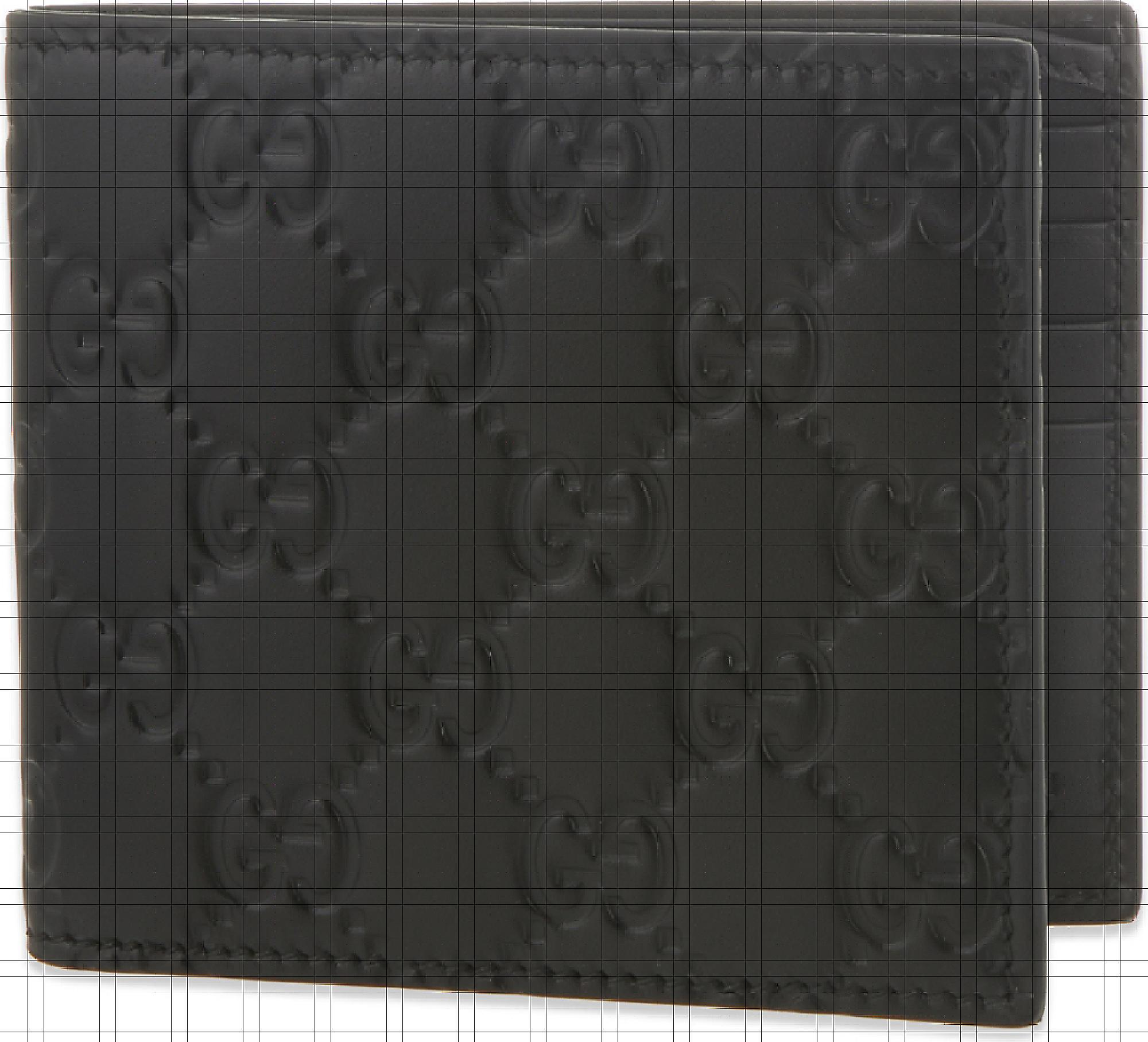 61bf348fc93 2. Gucci - Mens Black Embossed Sophisticated Gg Logo Leather Billfold Wallet  ...