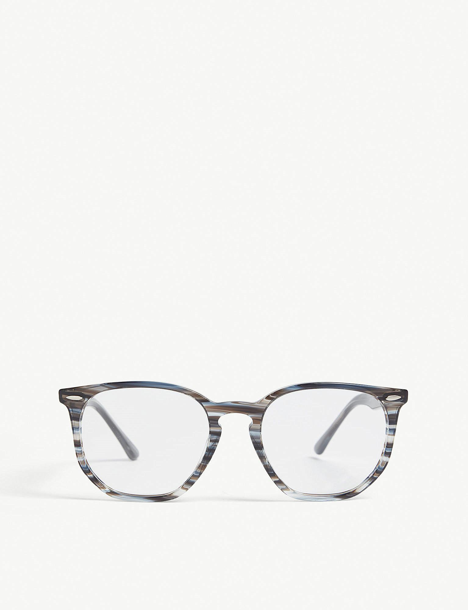1e8851a02ef Lyst - Ray-Ban Rb7151 Square-frame Glasses in Gray for Men