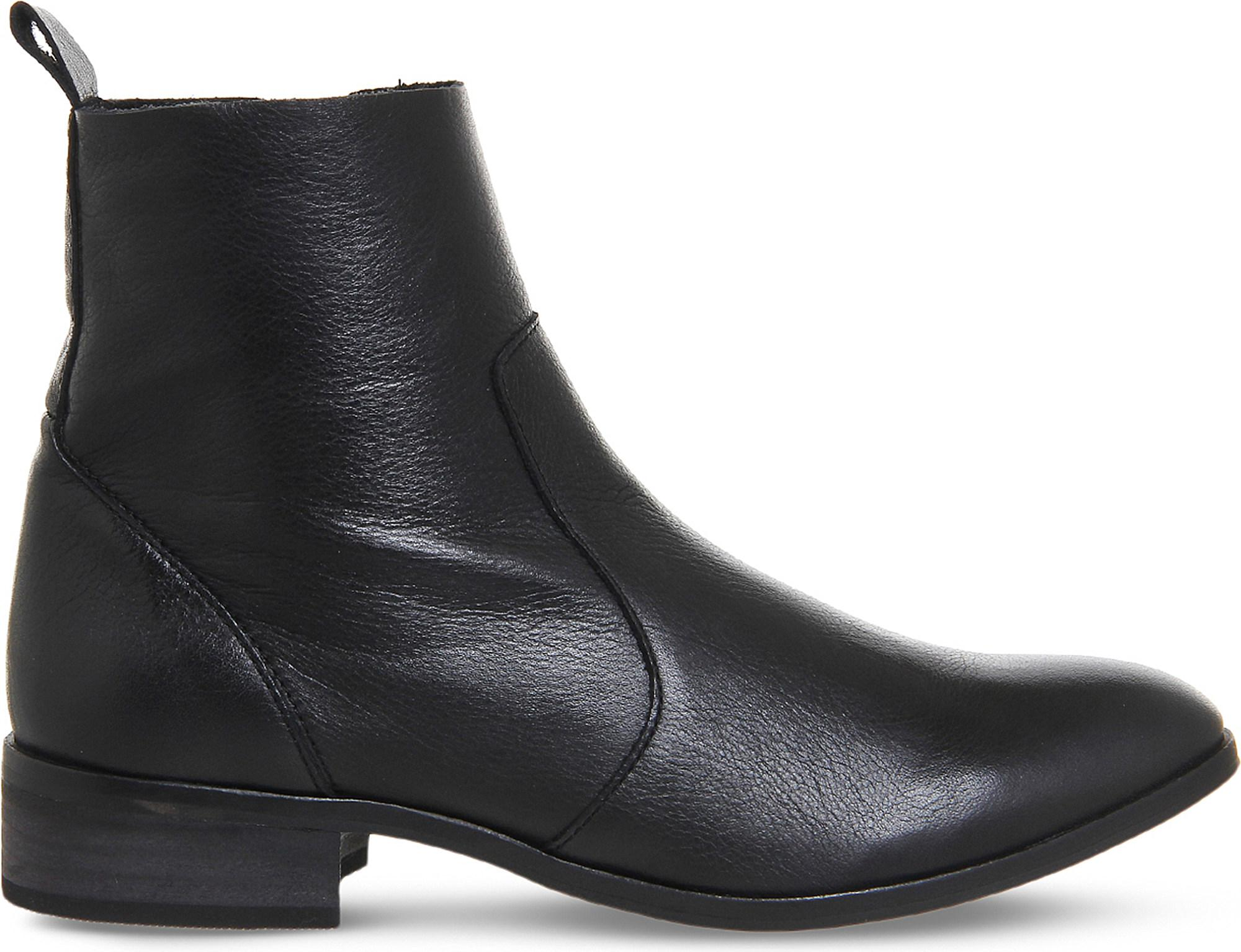 Lyst - Office Ashleigh Leather Ankle Boots in Black 76a060185454