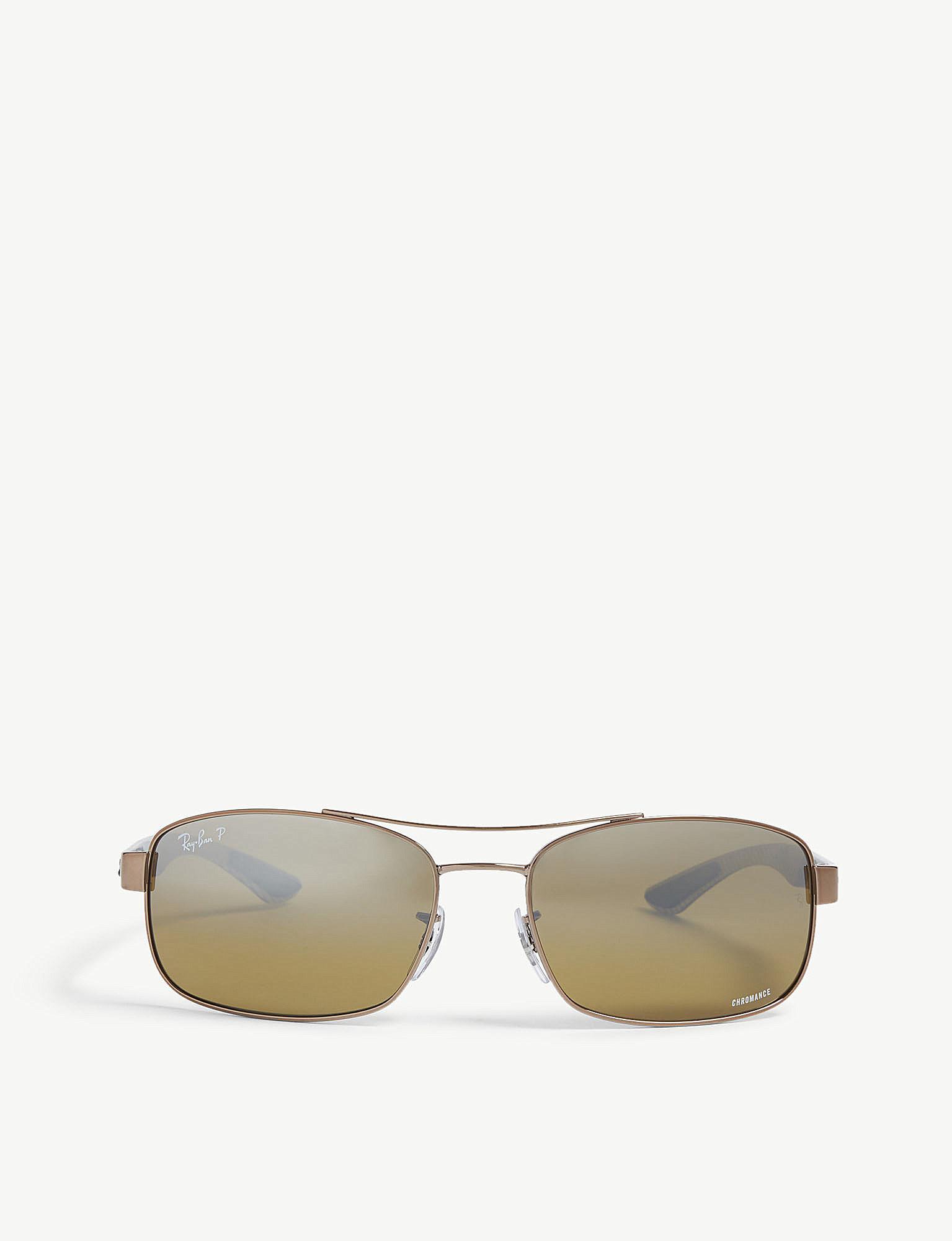 e72882e93c6 Lyst - Ray-Ban Rb8318 Chromance® Rectangular Sunglasses in Brown for Men