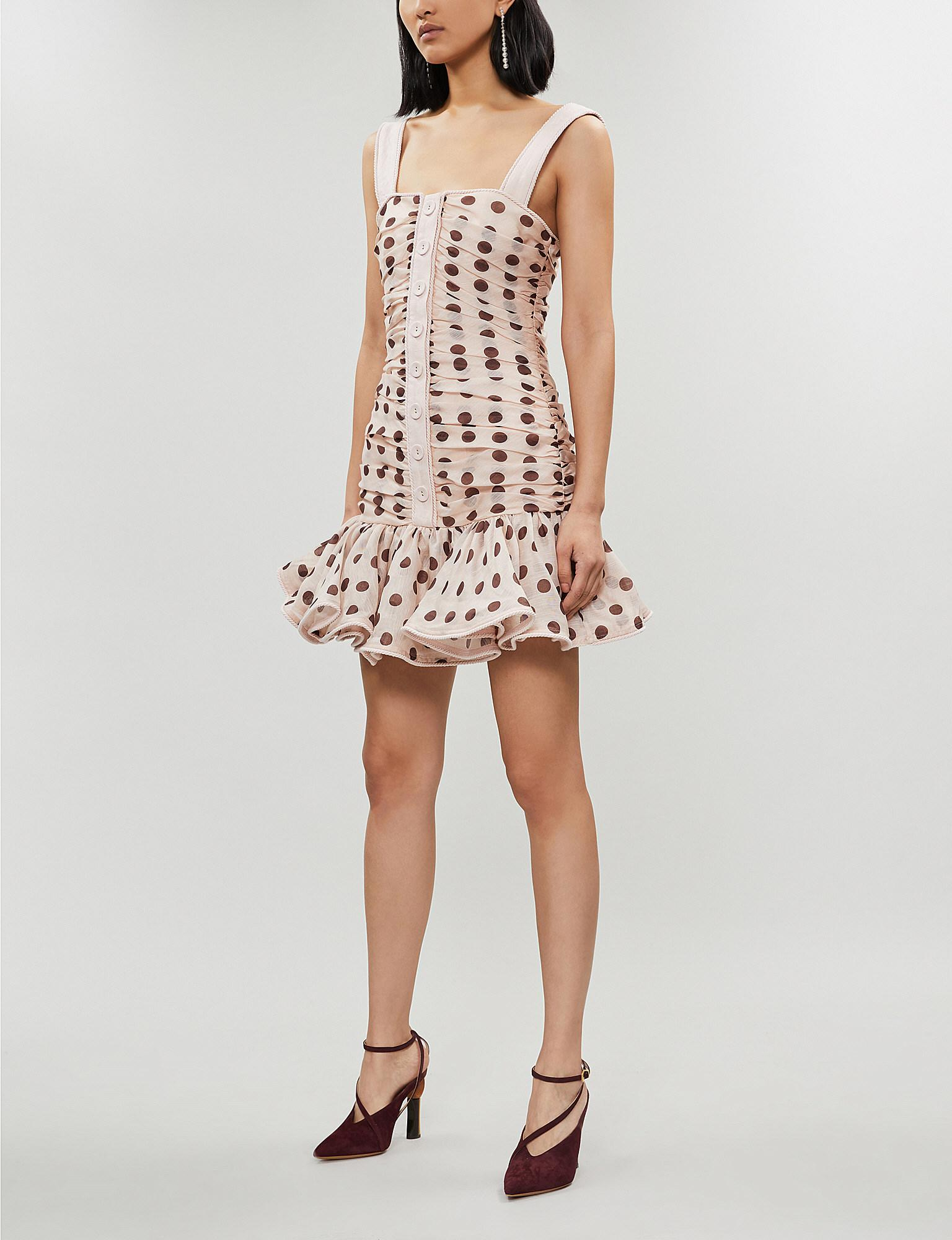 4a2f917f3447f Lyst - Zimmermann Corsage Linen And Silk-blend Mini Dress in Natural