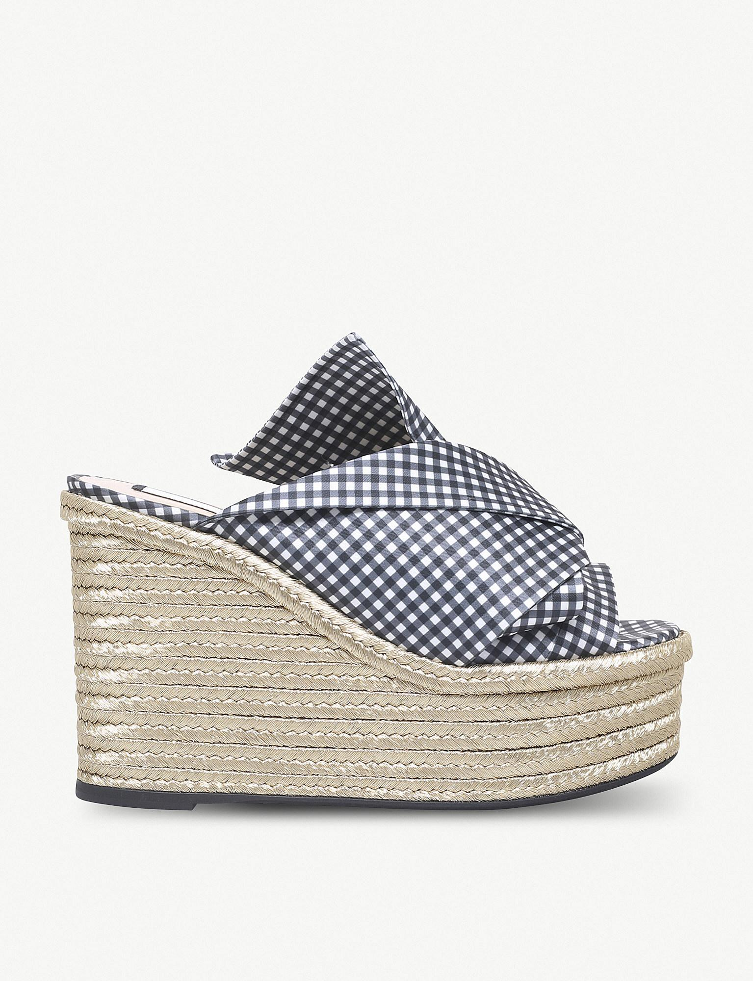 43a2dfd62b3 Lyst - N°21 Bow Espadrille Wedge Sandals
