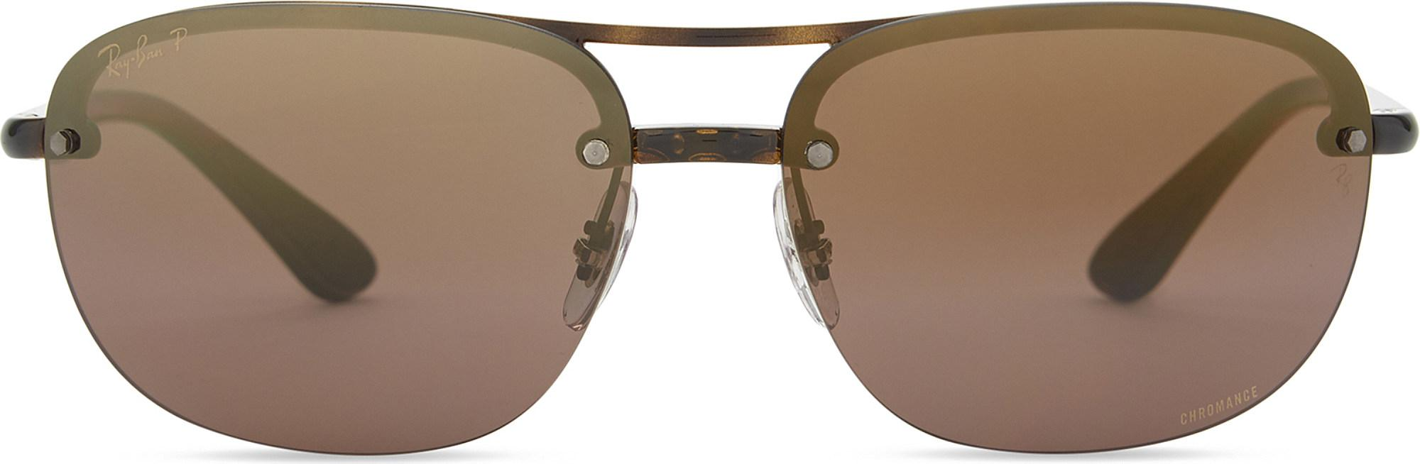 43f737701be Lyst - Ray-Ban Rb4275ch Chromance® Havana Square-frame Sunglasses ...