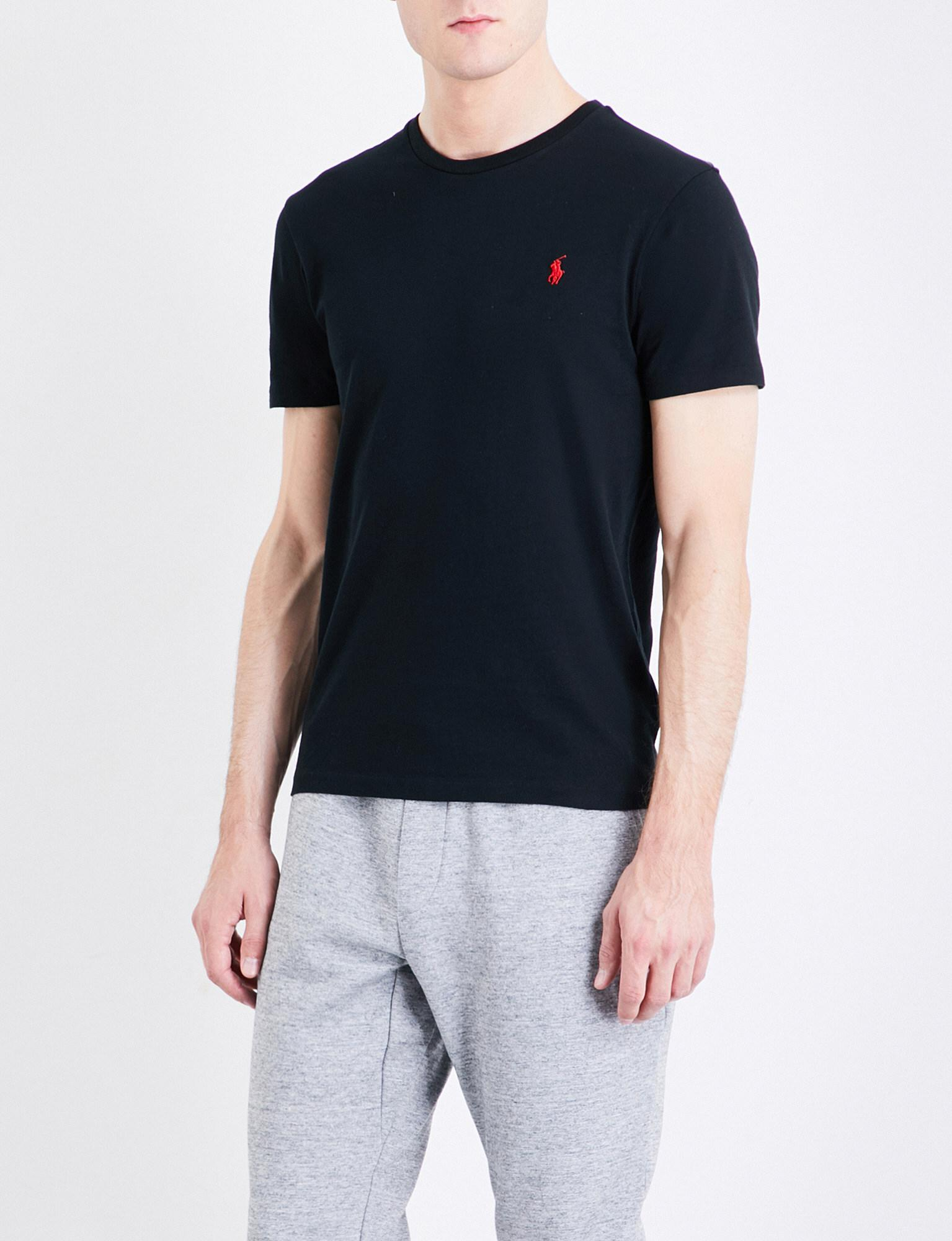 Lyst Polo Ralph Lauren Logo Embroidered Custom Slim Fit Cotton