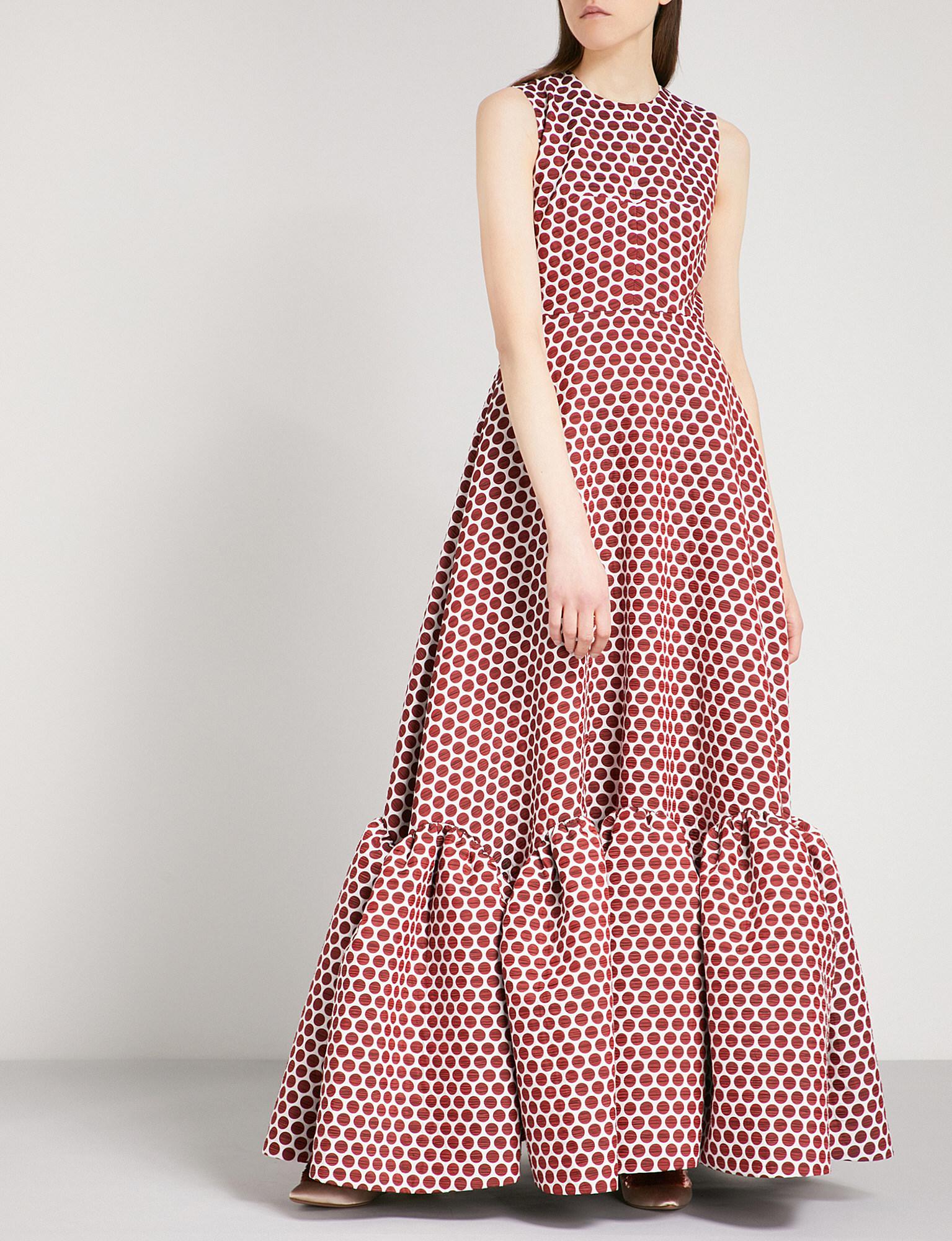 Jodie polka-dot sleeveless gown Huishan Zhang cTOpBe