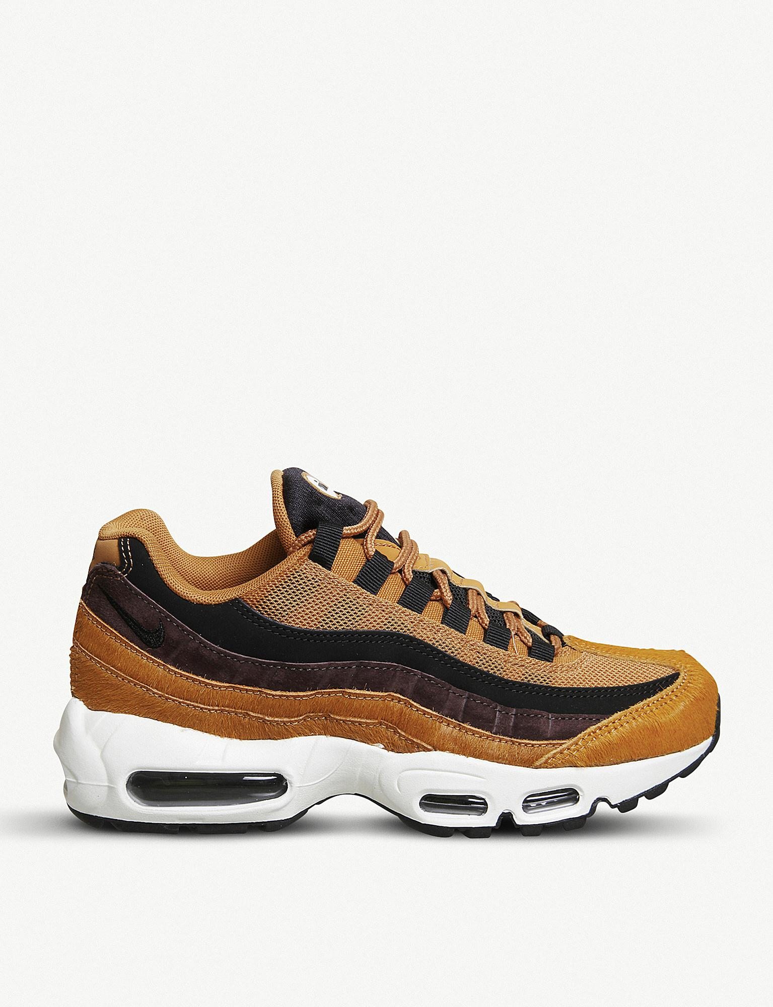 95 Air Brown And In Nike Suede Max Ponyhair Lyst Trainers qtaRw4xz