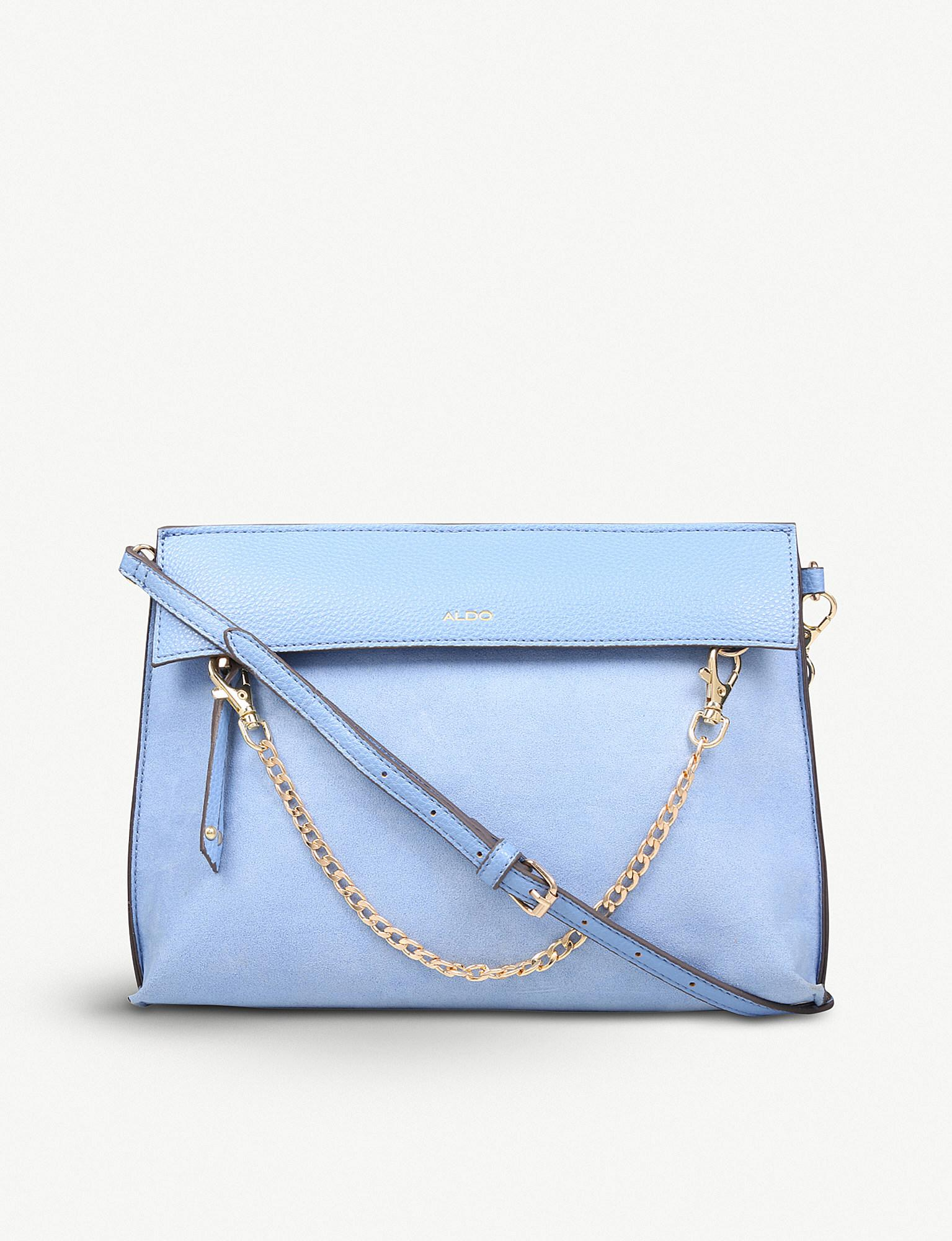 24efebaf8a0 Lyst - ALDO Asiasien Faux-leather And Suedette Clutch in Blue