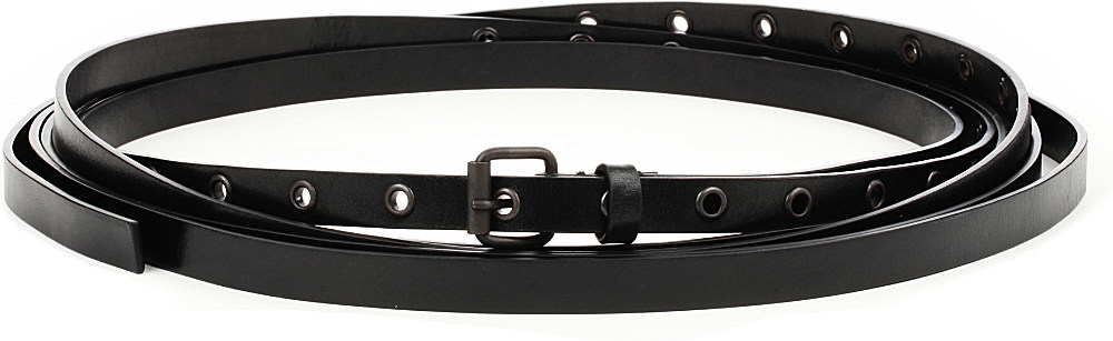 demeulemeester wrap around leather belt in black lyst