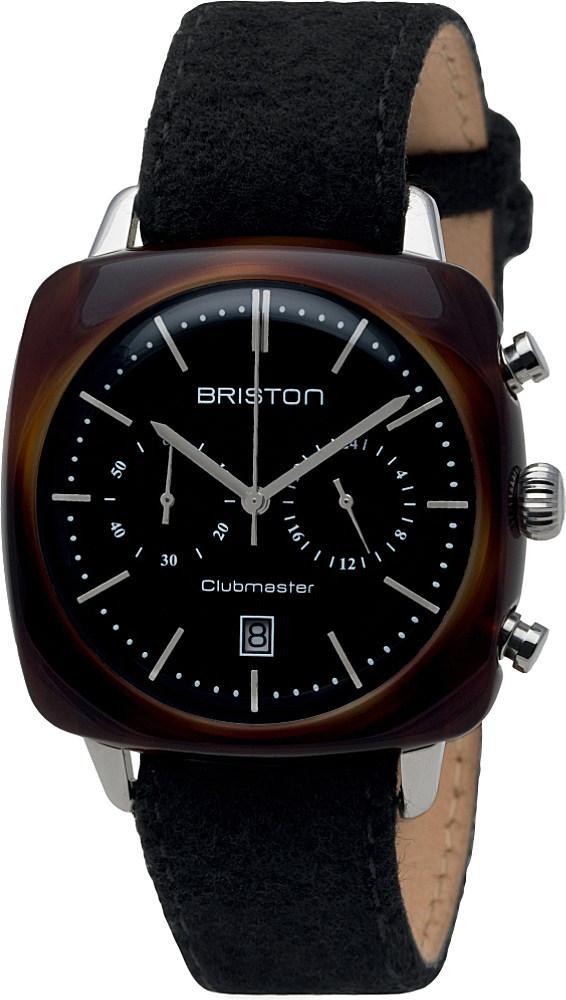 briston clubmaster vintage acetate watch in black lyst. Black Bedroom Furniture Sets. Home Design Ideas