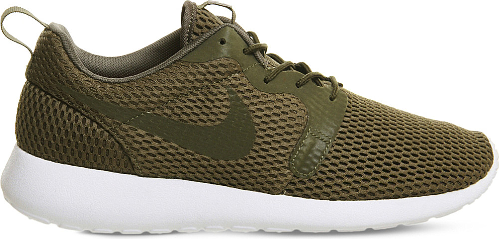 55836322ae9 ... best price lyst nike roshe one hyperfuse mesh and textile trainers in  green 8835f 255d4