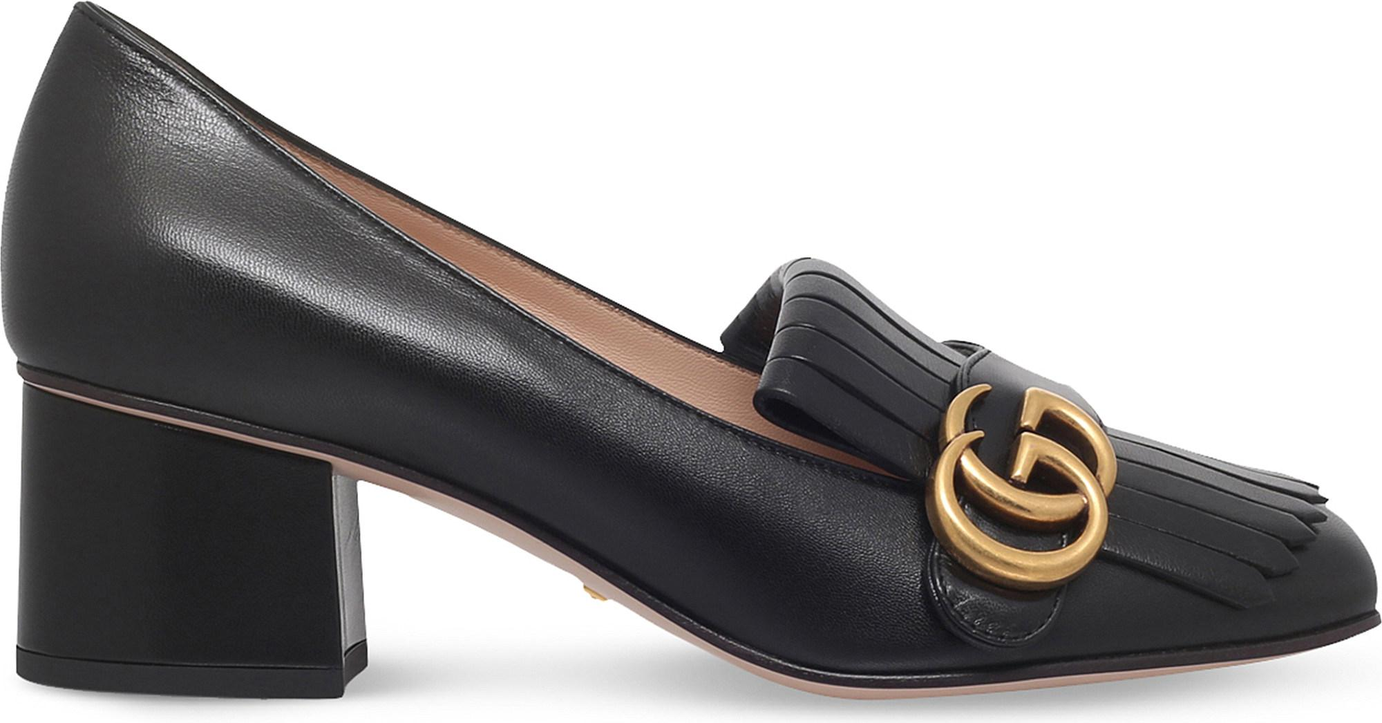 bf913d075f9b2 Gucci Marmont Leather Pumps in Purple - Save 29% - Lyst