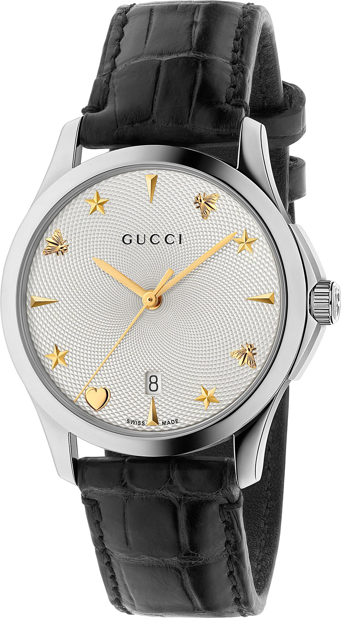 5f00a54faaf Gucci - Metallic G-timeless Silver And Leather Watch - Lyst. View fullscreen