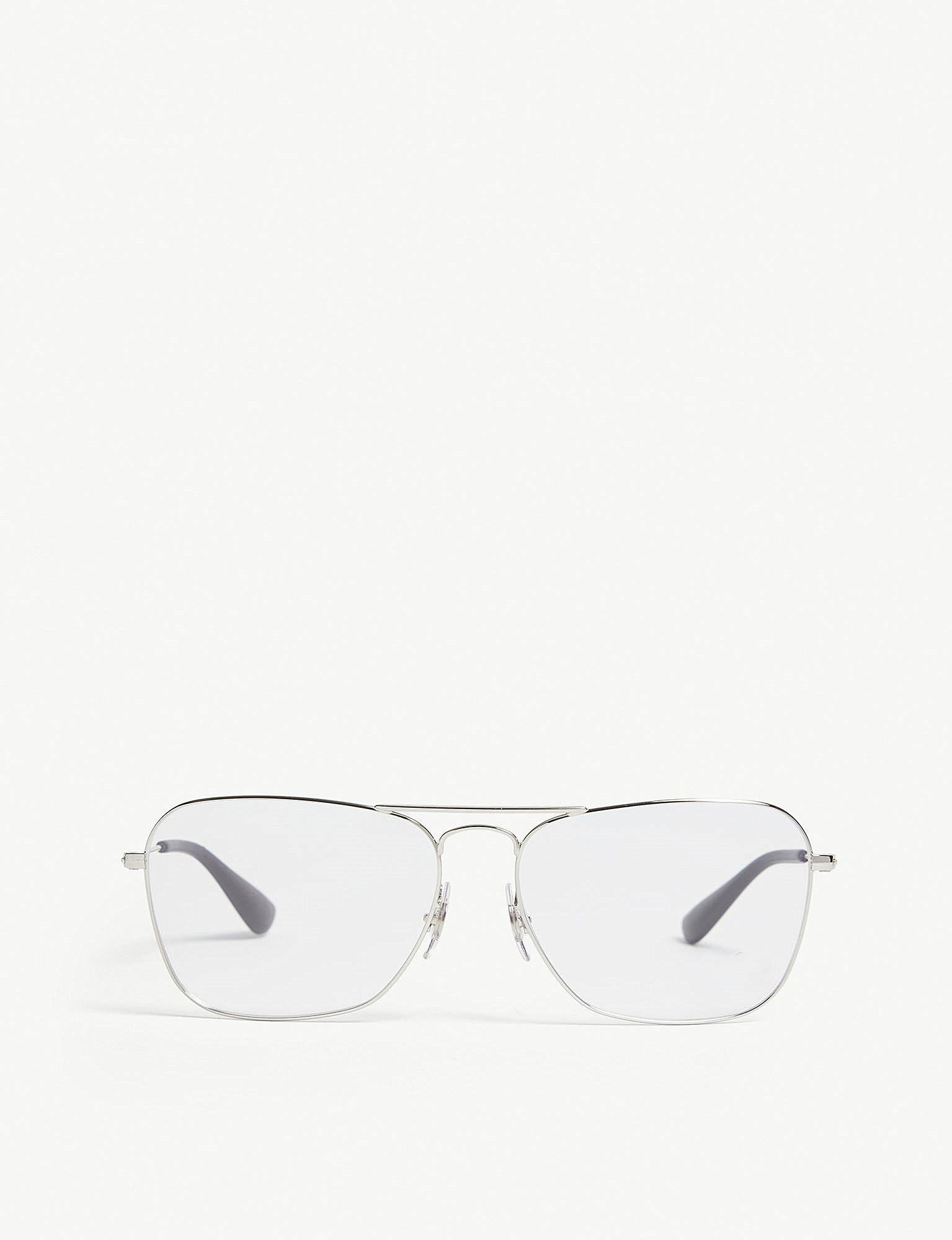 ray ban rb3610v square frame glasses in metallic lyst Girls Sunglasses Ray-Ban ray ban
