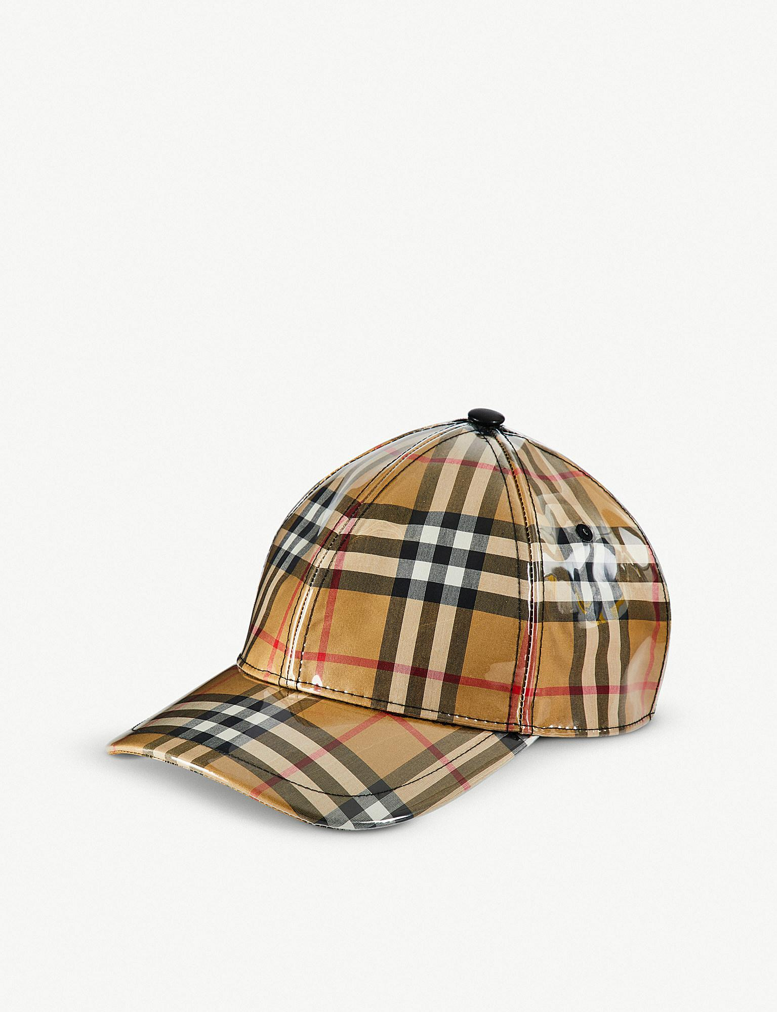 68fa63663e Burberry Vintage Check Pvc Baseball Cap for Men - Lyst