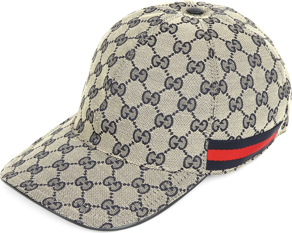 72f59083a Gucci Monogram Canvas Baseball Cap in Gray for Men - Lyst