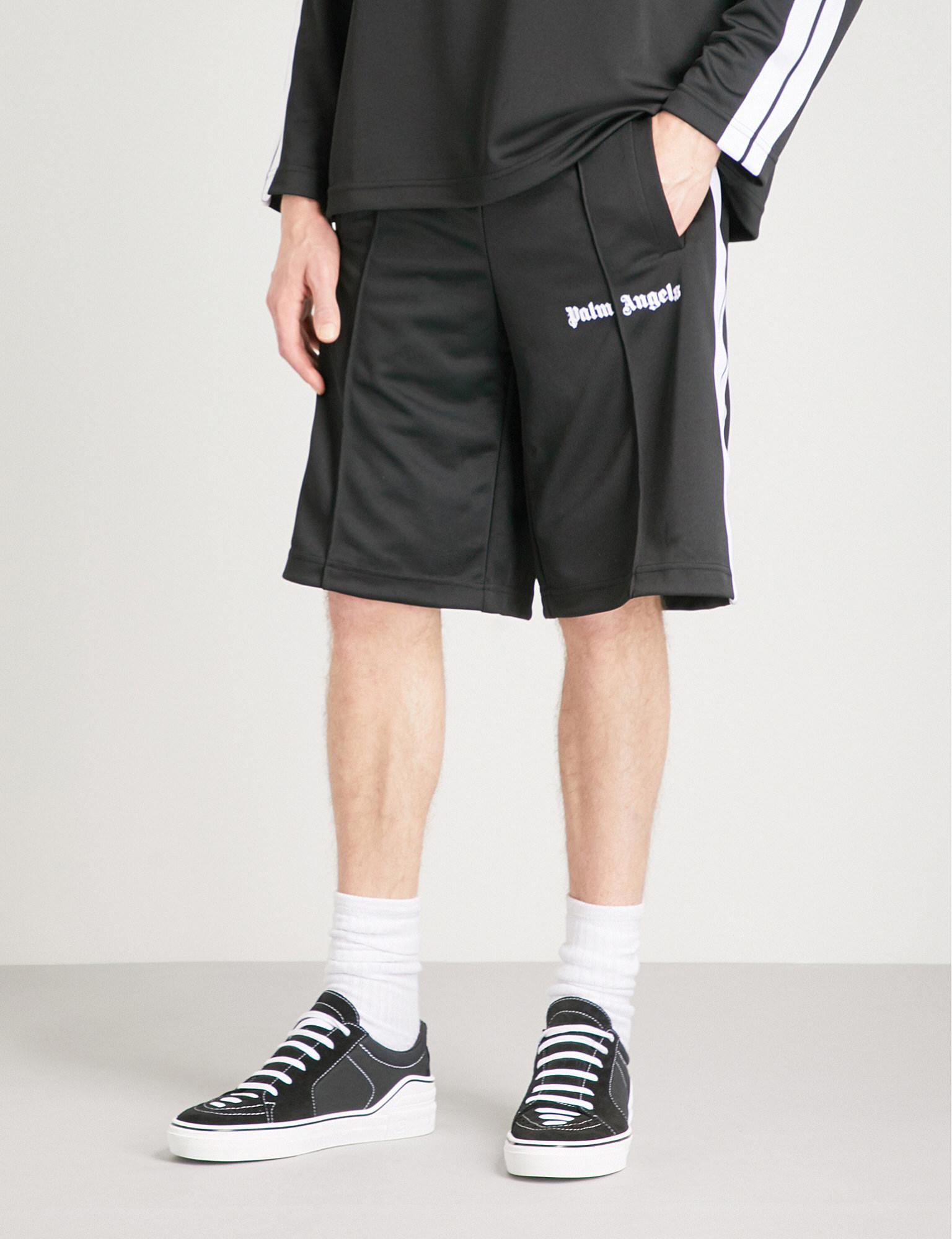 d20a943d8f Palm Angels Side-stripe Shell Shorts in Black for Men - Lyst