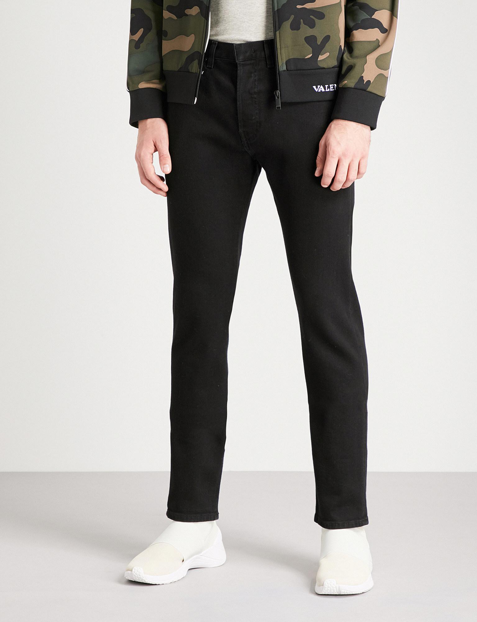 slim-fit Rockstud jeans - Black Valentino 5hmfG