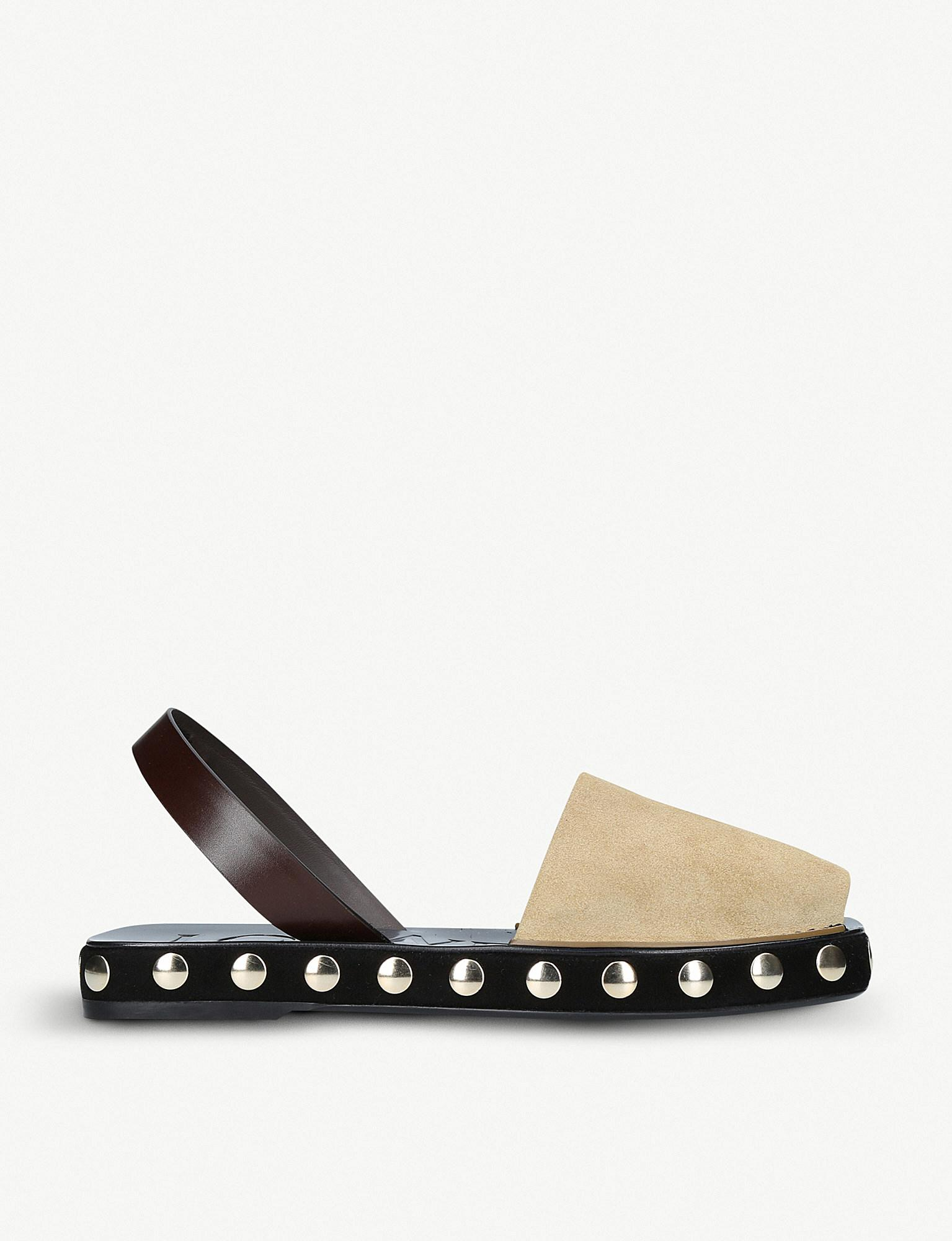 Loewe Studded Suede Slingback Sandals Particular Discount Cheap From China w5uyFYfC