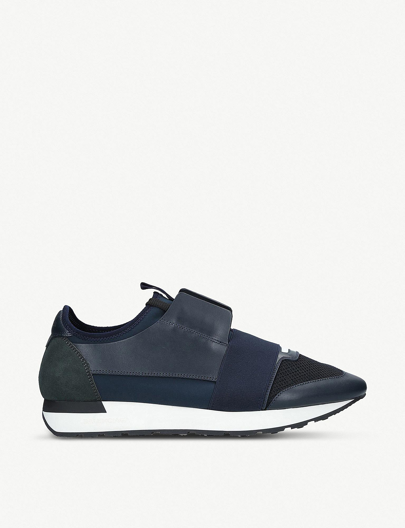 31974eed7405 Balenciaga Panelled Sneakers in Blue for Men - Lyst