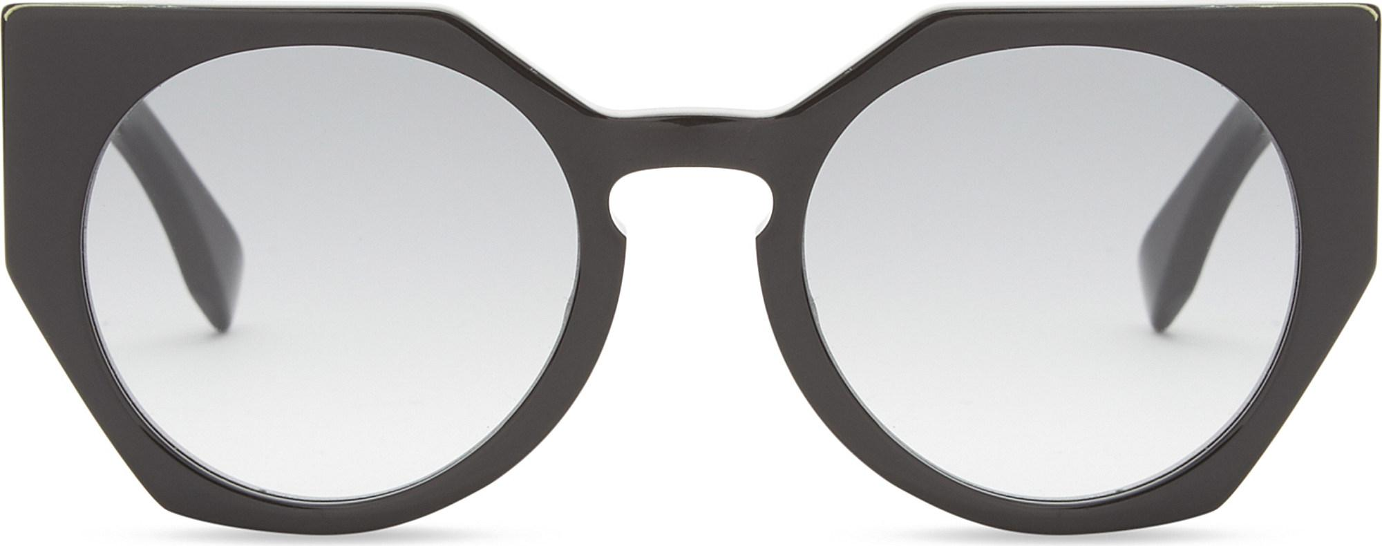 0bbb9854bcc Fendi Ff0151 Cat-eye Sunglasses in Black - Lyst
