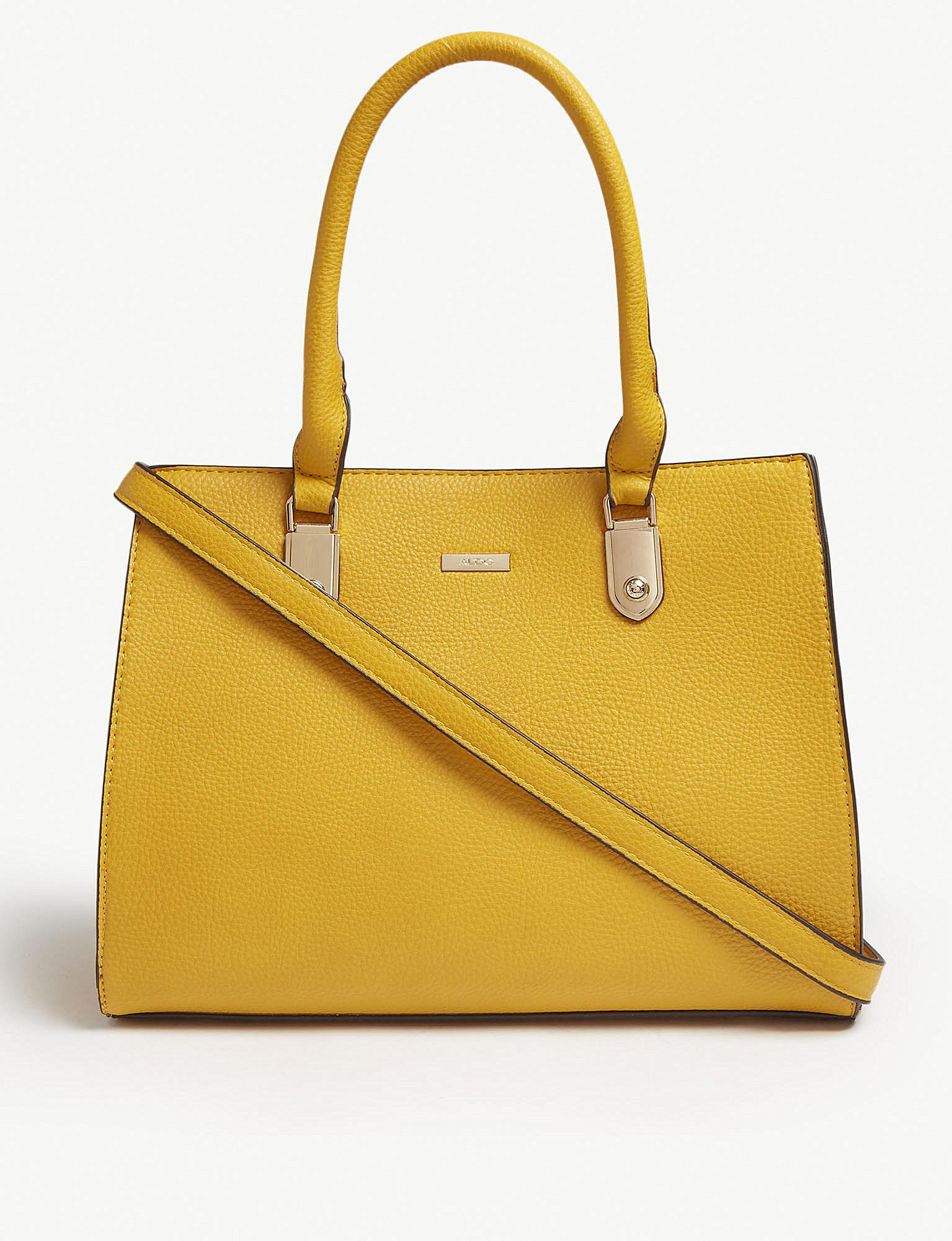 Aldo England Faux-leather Cross-body Bag in Yellow - Lyst 5534f10357f9b
