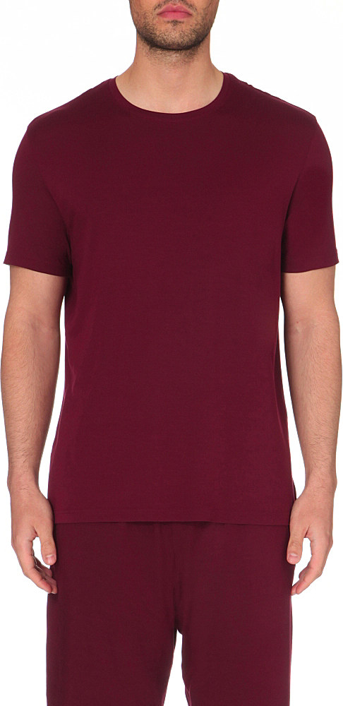 Lyst Derek Rose Basel Jersey T Shirt In Purple For Men